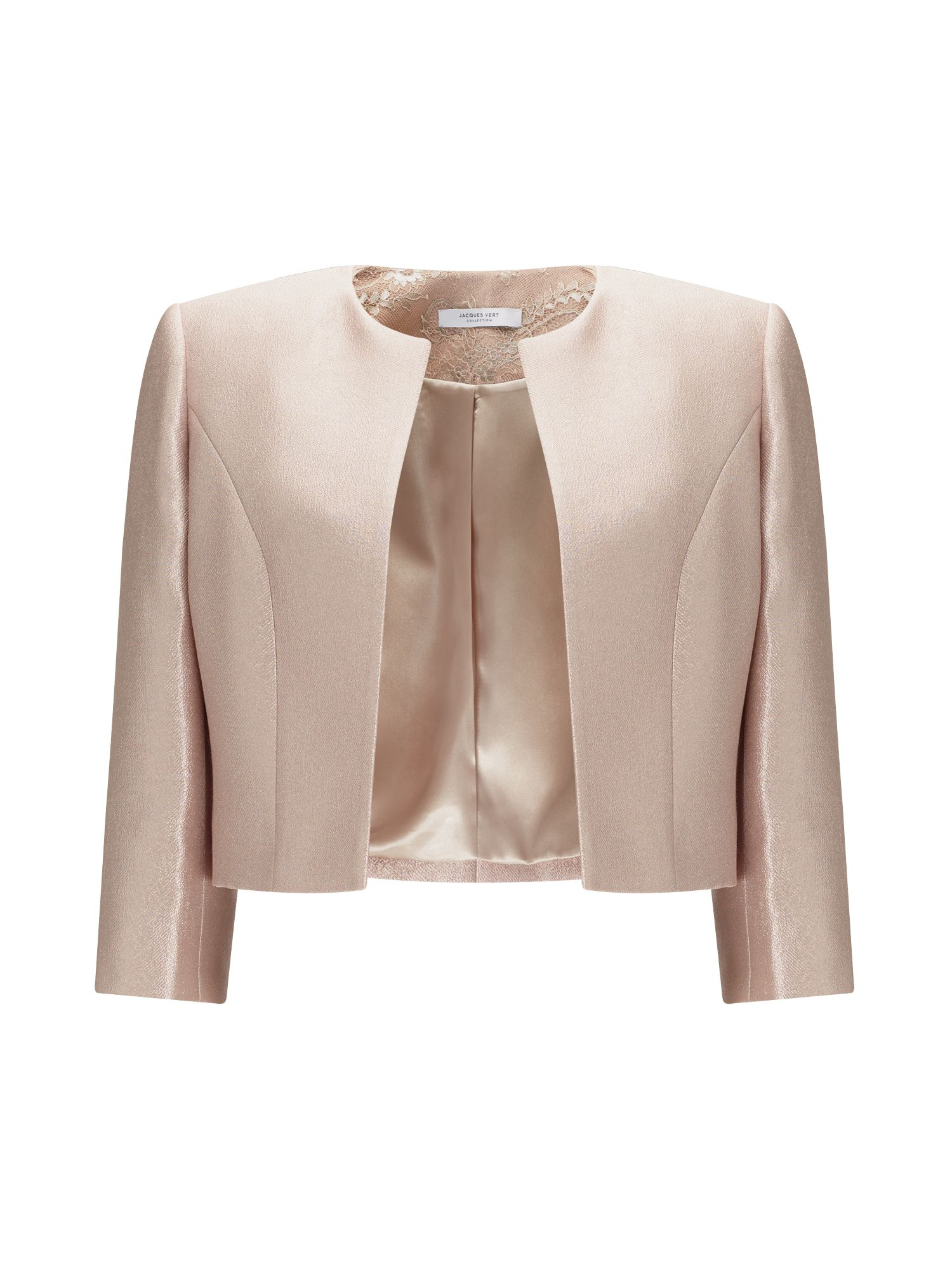 Jacques Vert Tamara Textured Jacket, Light Pink