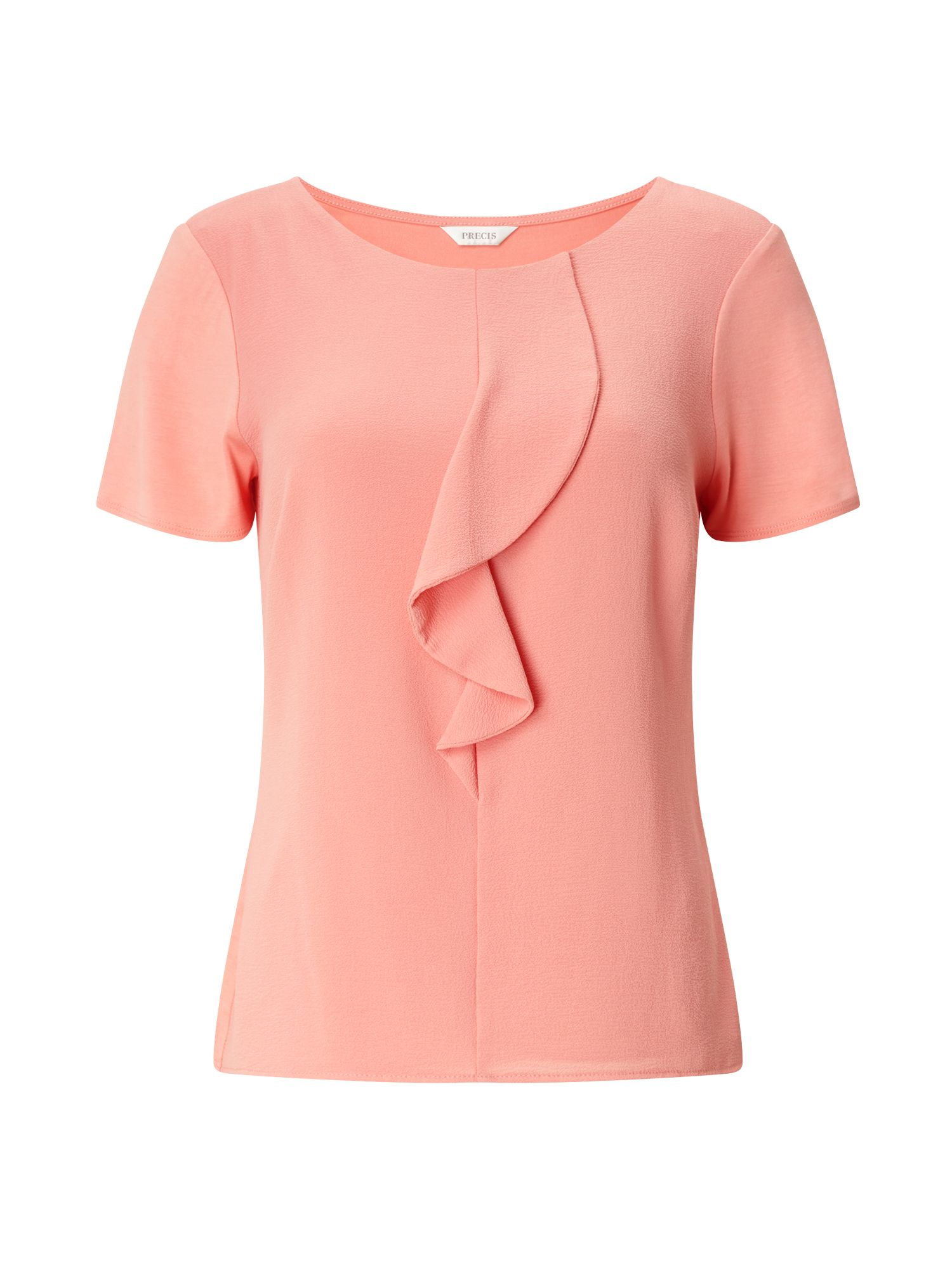 Precis Petite Petite Ruffle Front Top, Orange