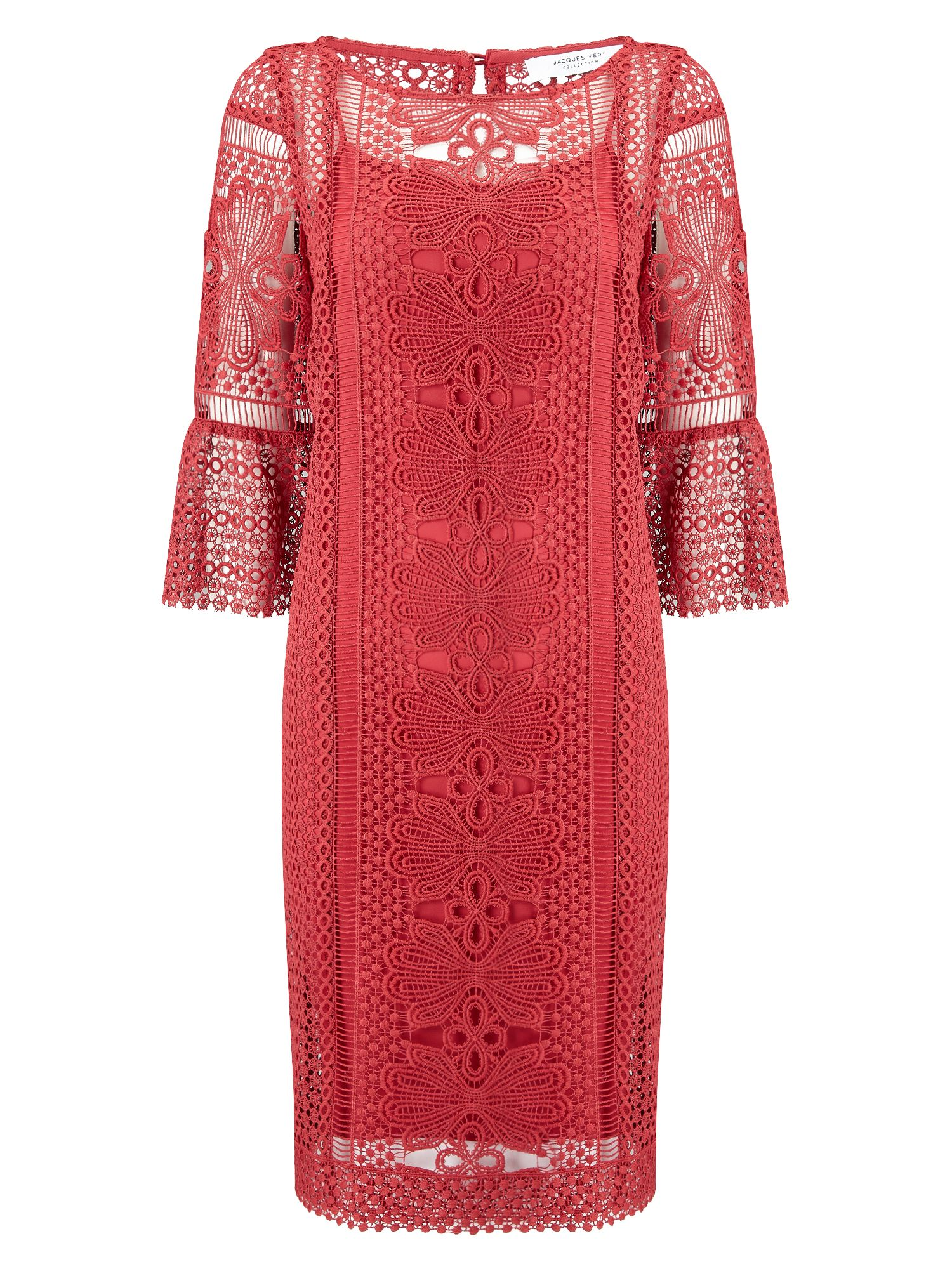 Jacques Vert Lace Tunic Dress, Red