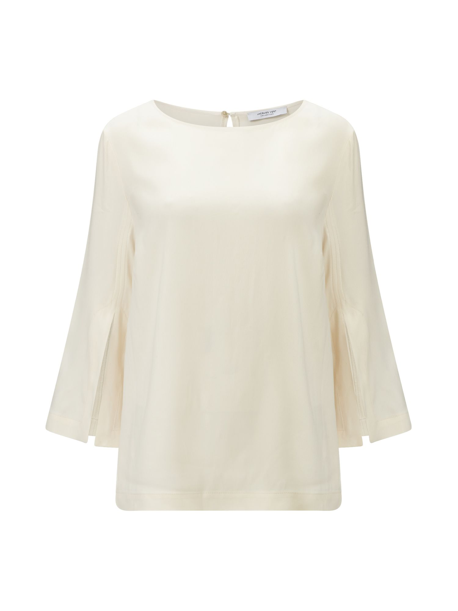 Jacques Vert Split Sleeve Sophisticated Top, Neutral