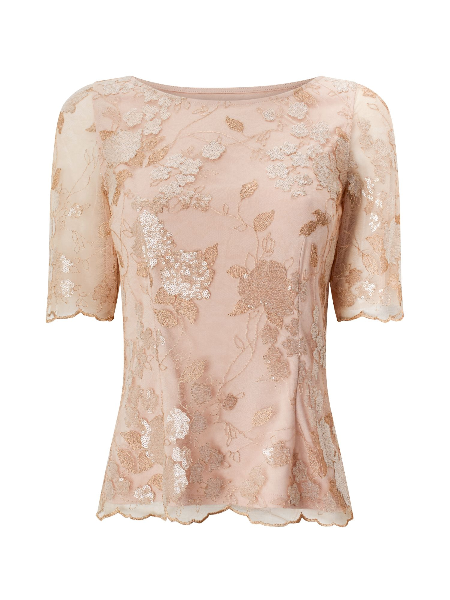 Jacques Vert HERMIONE LACE BLOUSE, Neutral