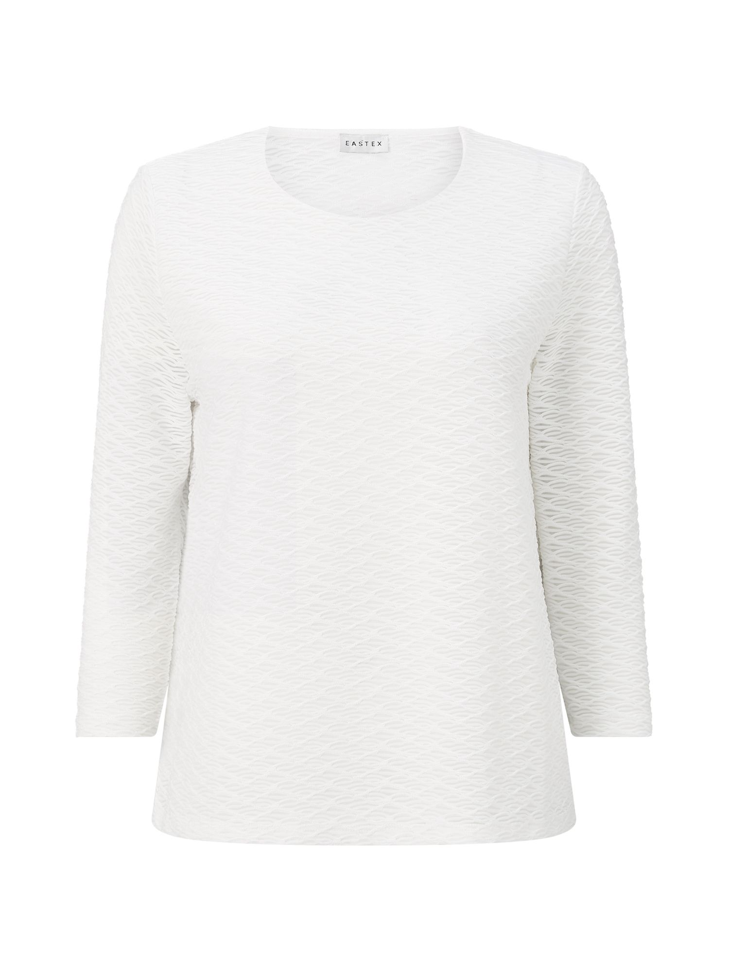 Eastex Textured Jersey Top, White