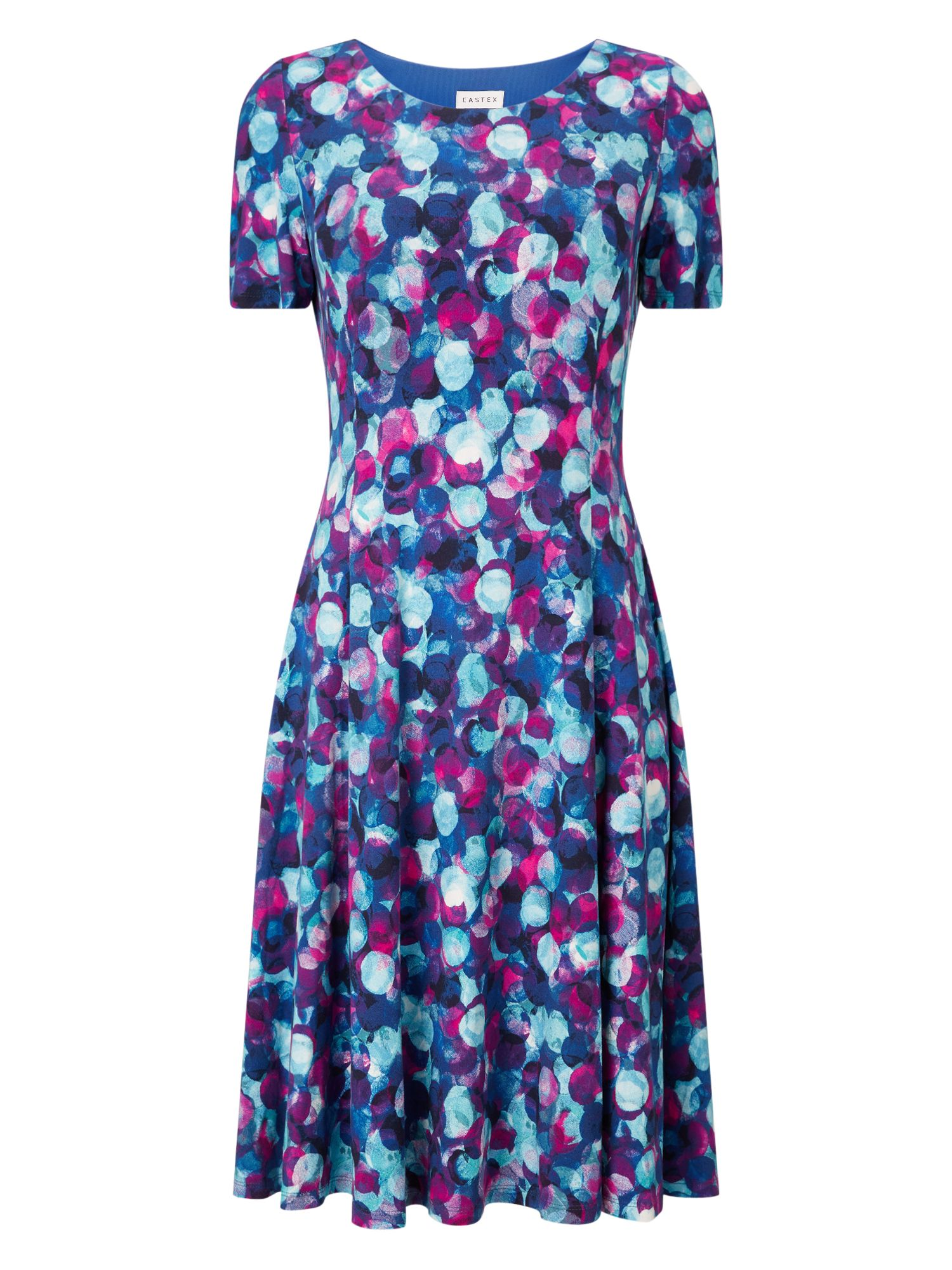 Eastex Harvest Spot Jersey Dress, Multi-Coloured