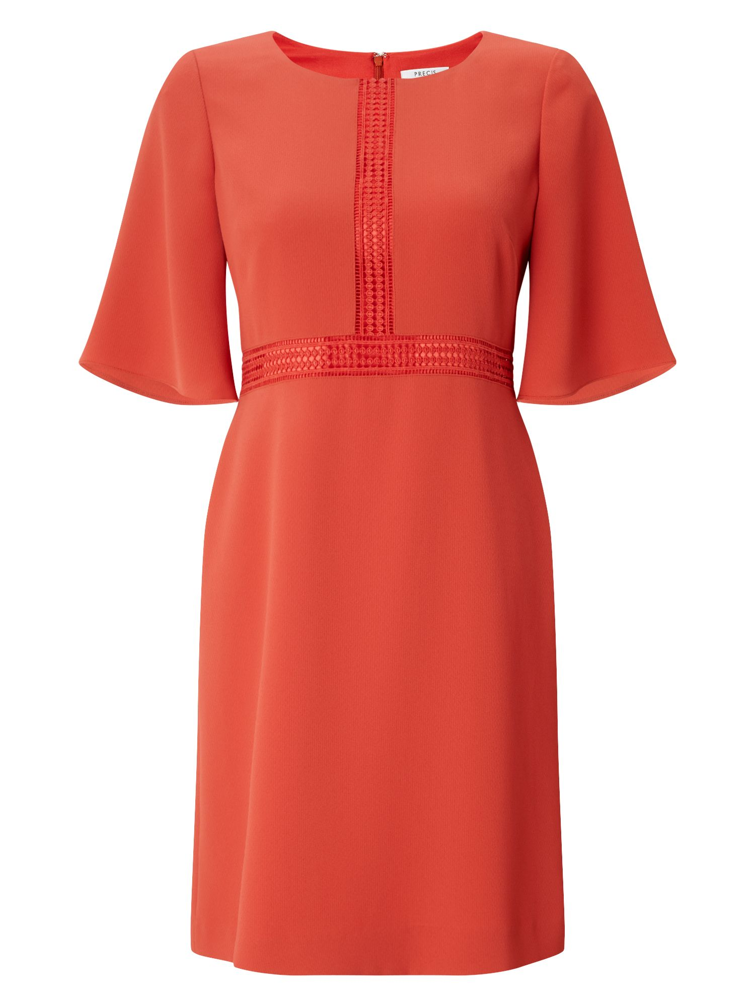 Precis Petite Petite Bell Sleeve Dress, Dark Orange
