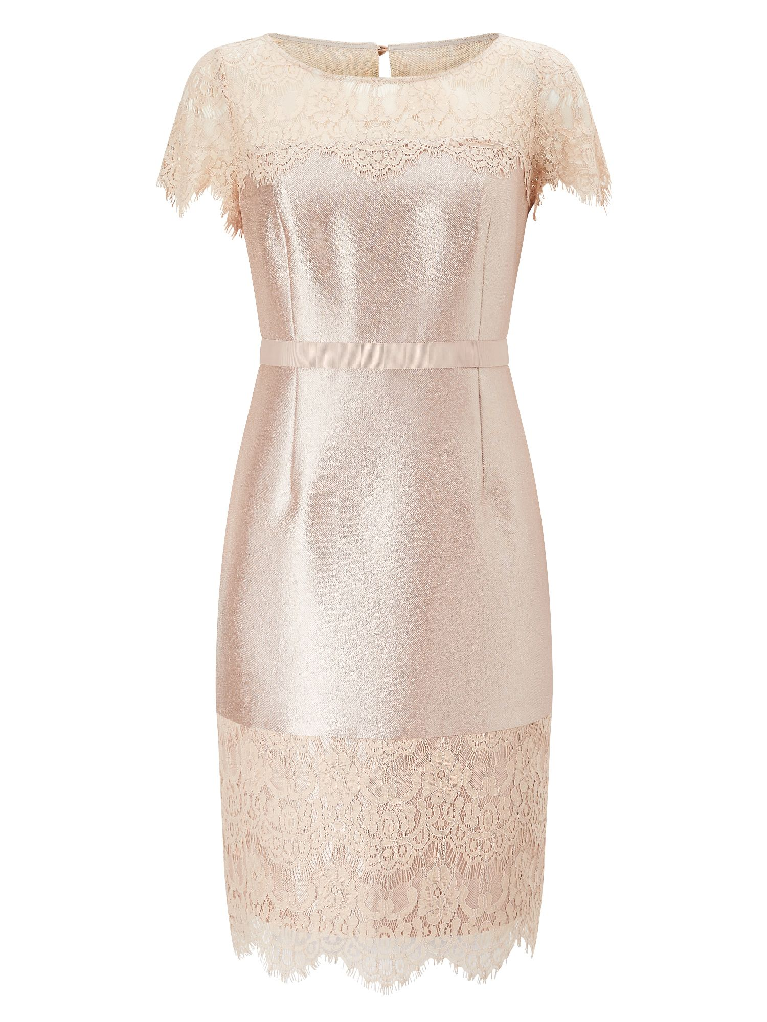 Precis Petite Petite Della Shimmer Dress, Neutral