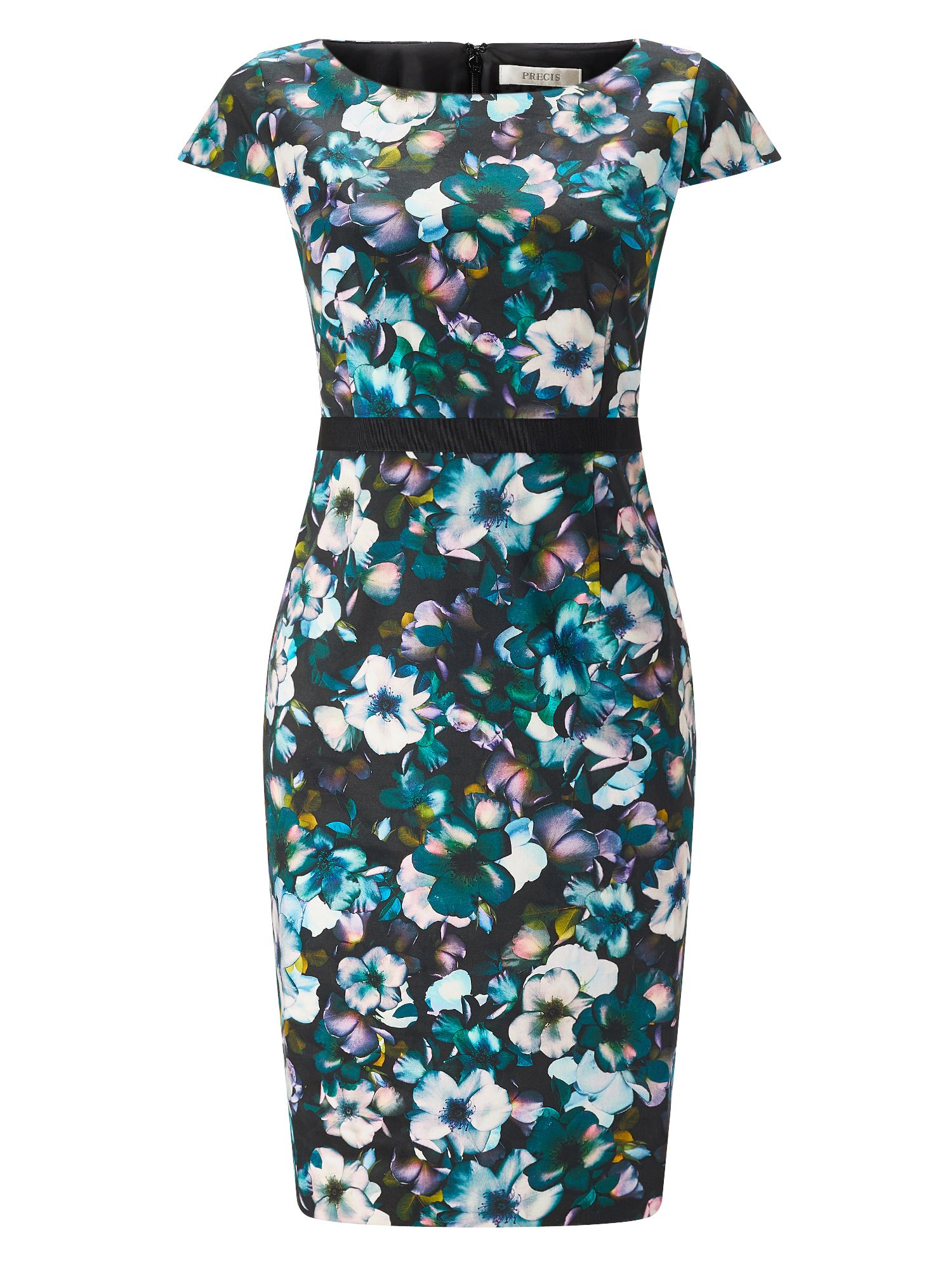 Precis Petite Petite Orchid Print Dress, Black Multi