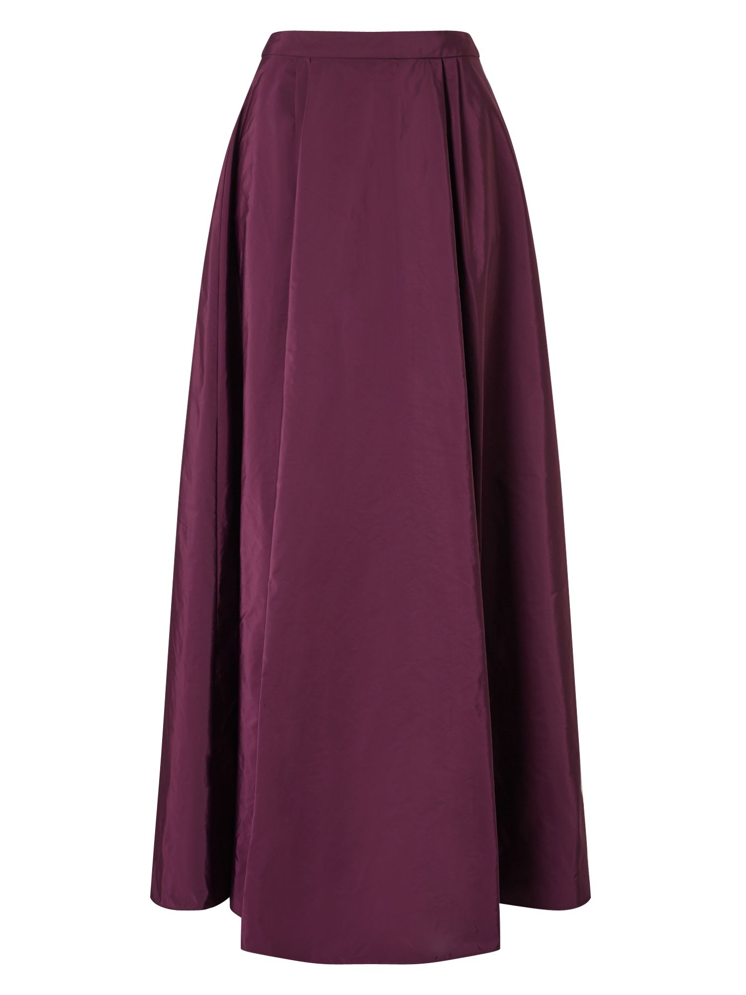 Jacques Vert Sadie Taffeta Maxi Skirt, Dark Purple