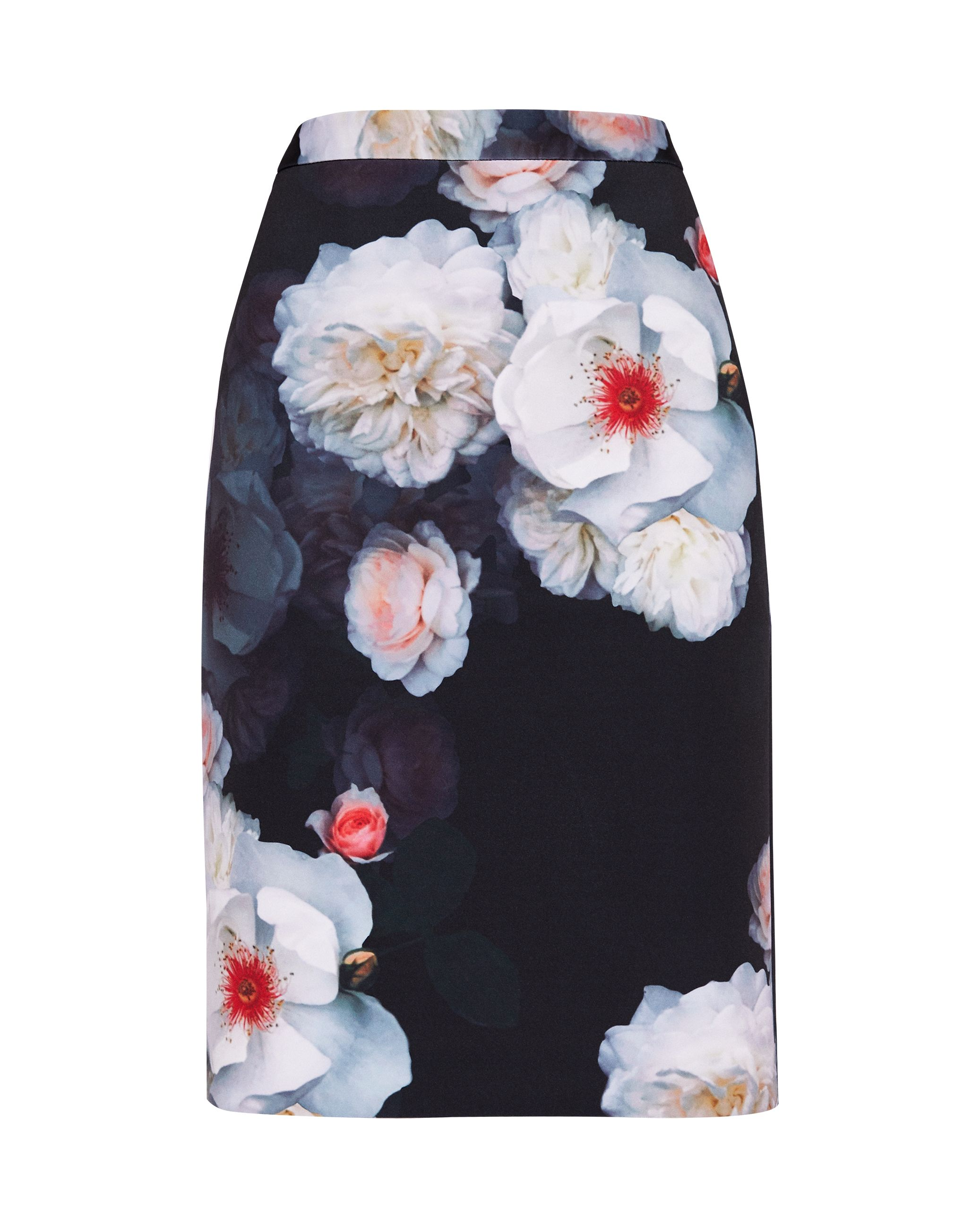 Ted Baker Lieyaa Chelsea Print Pencil Skirt, Black