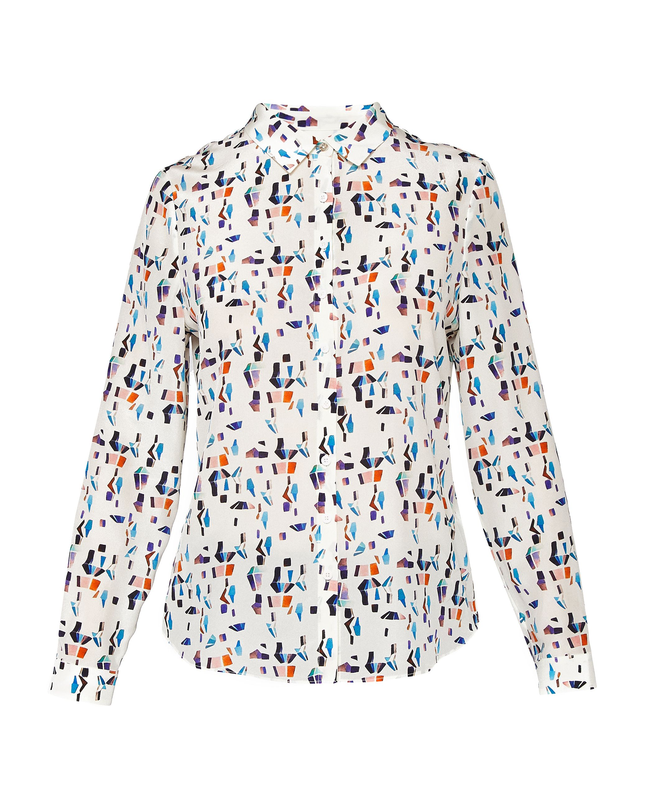Ted Baker Ontaio Colour Print Shirt, White