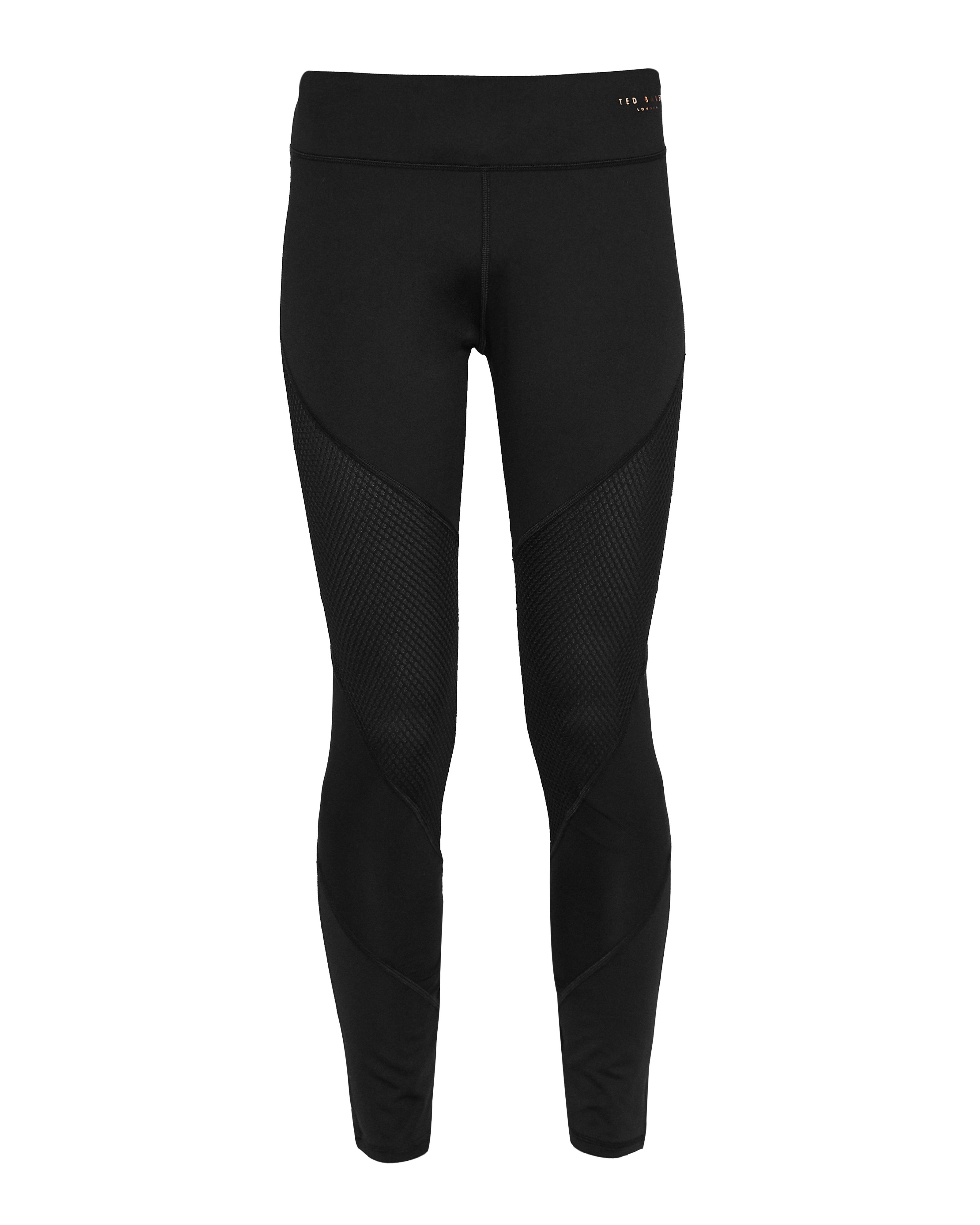 Ted Baker Atcro Mesh Cut Out Leggings, Black