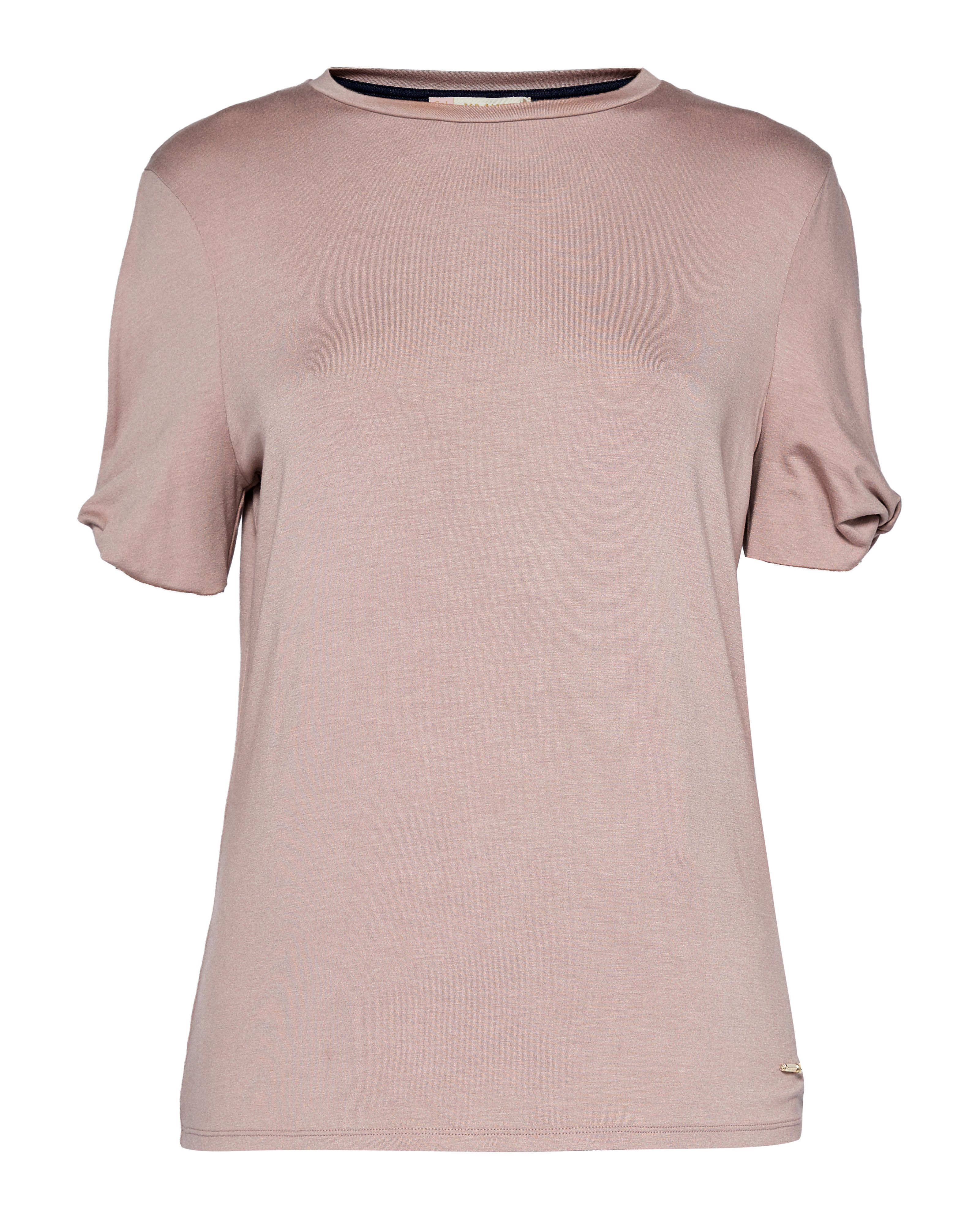Ted Baker Narva CBN Jersey Cut Out Sleeve Top, Pink