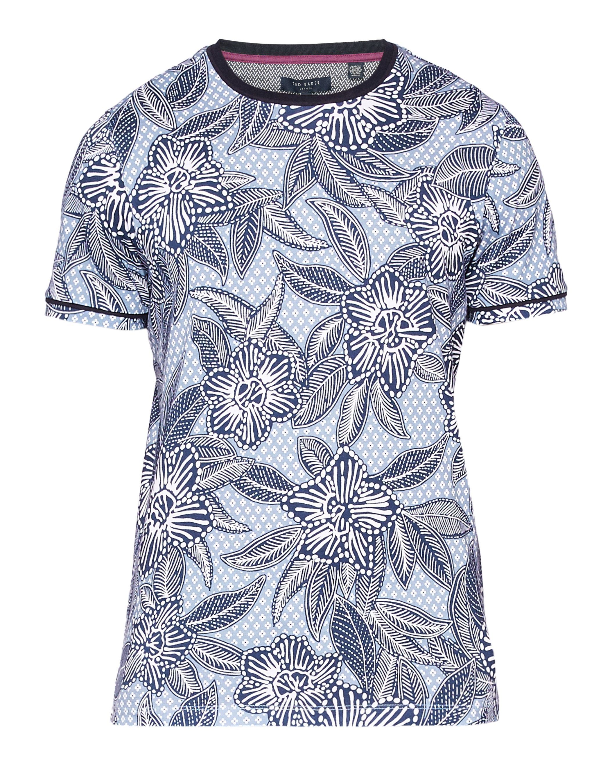 Men's Ted Baker Fenosi floral cotton t-shirt, Green