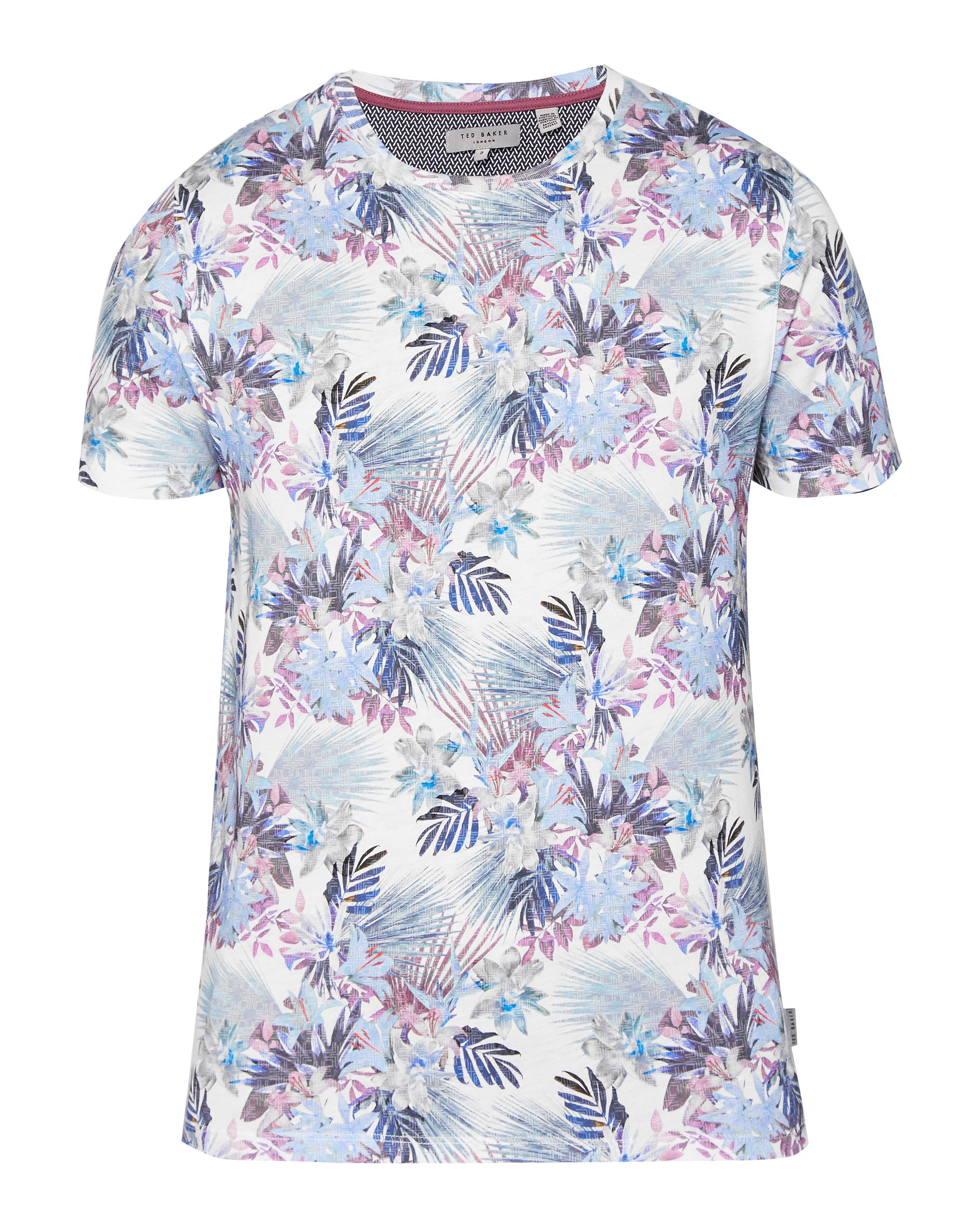 Men's Ted Baker Driveup Geo And Floral Print T-Shirt, White