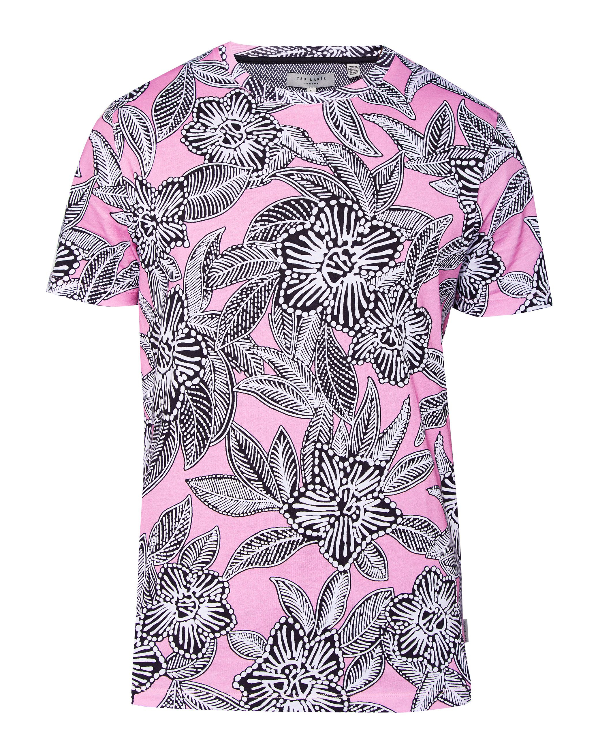 Men's Ted Baker Niosi floral cotton t-shirt, Pink