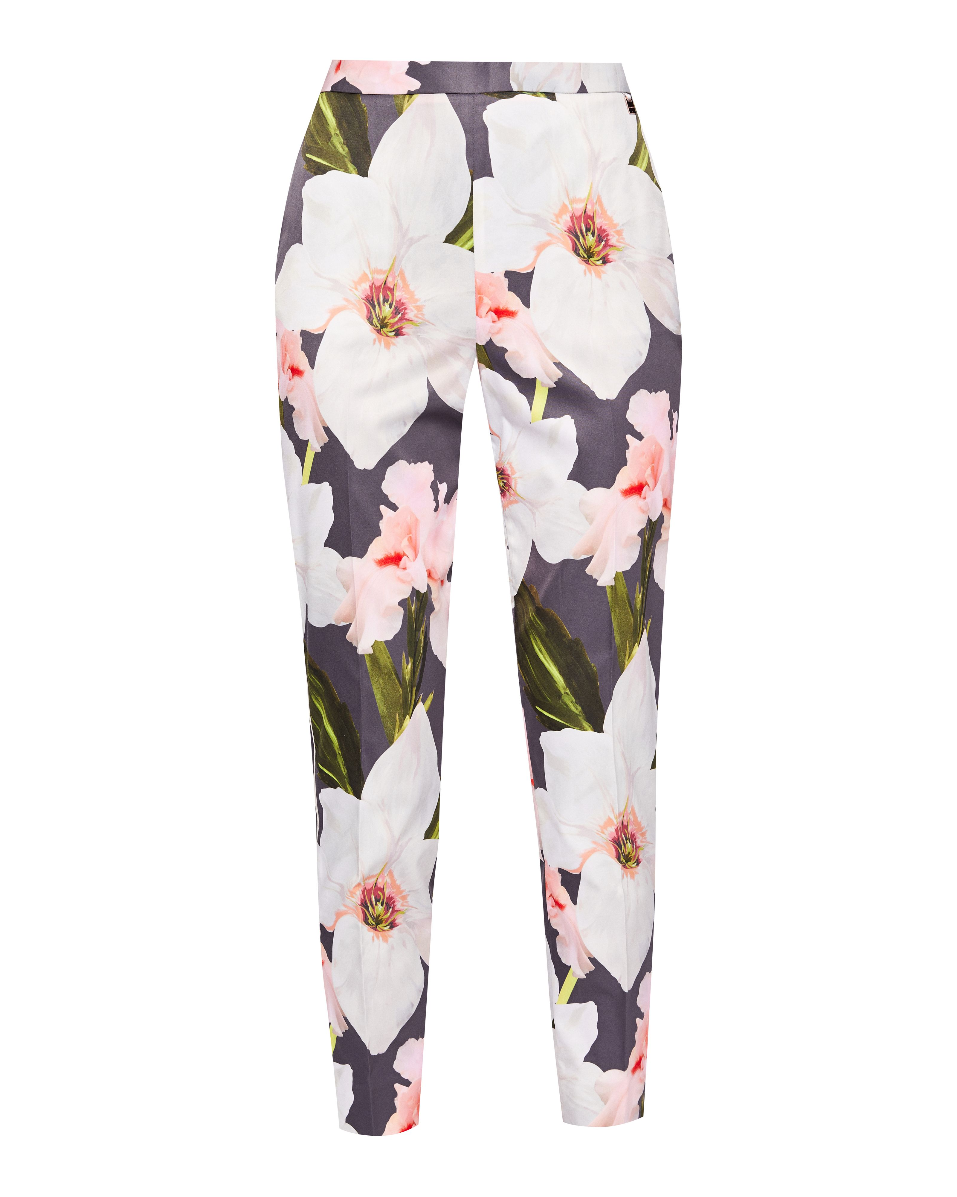 Ted Baker Aiimy Chatsworth Bloom Tapered Trousers, Grey