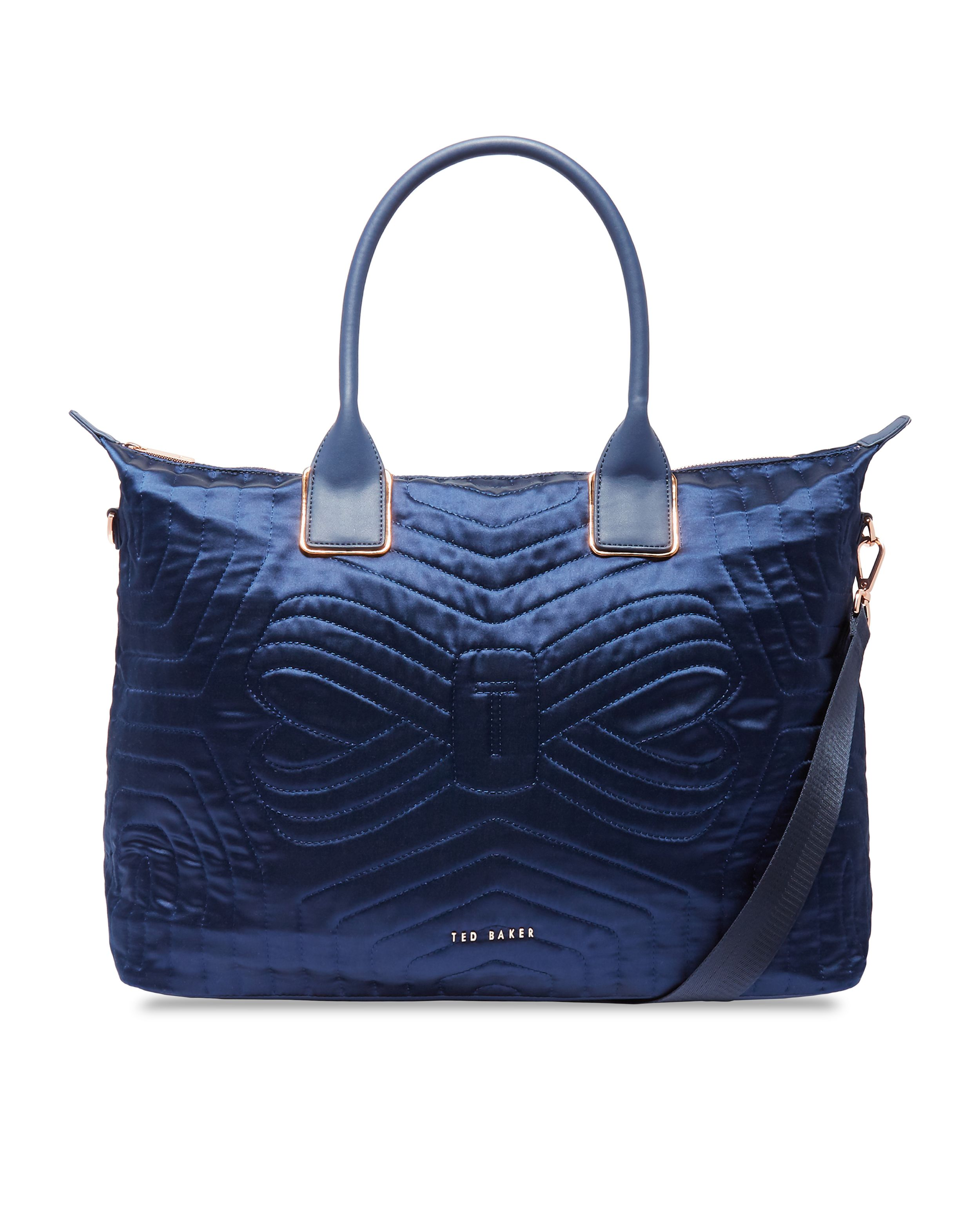 Ted Baker Agaria Quilted Bow Large Nylon Tote Bag, Blue