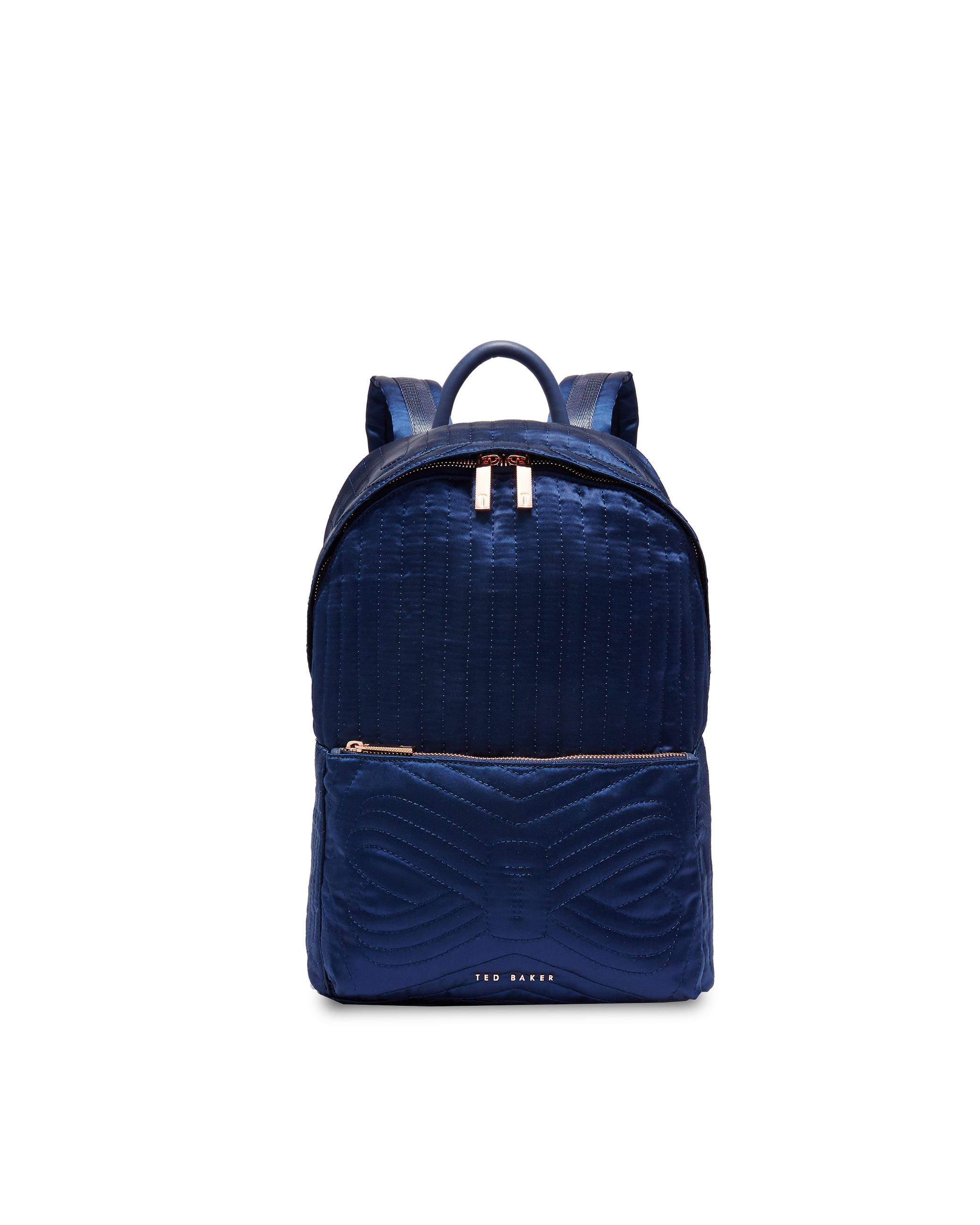 Ted Baker Akija Quilted Bow Nylon Backpack, Blue