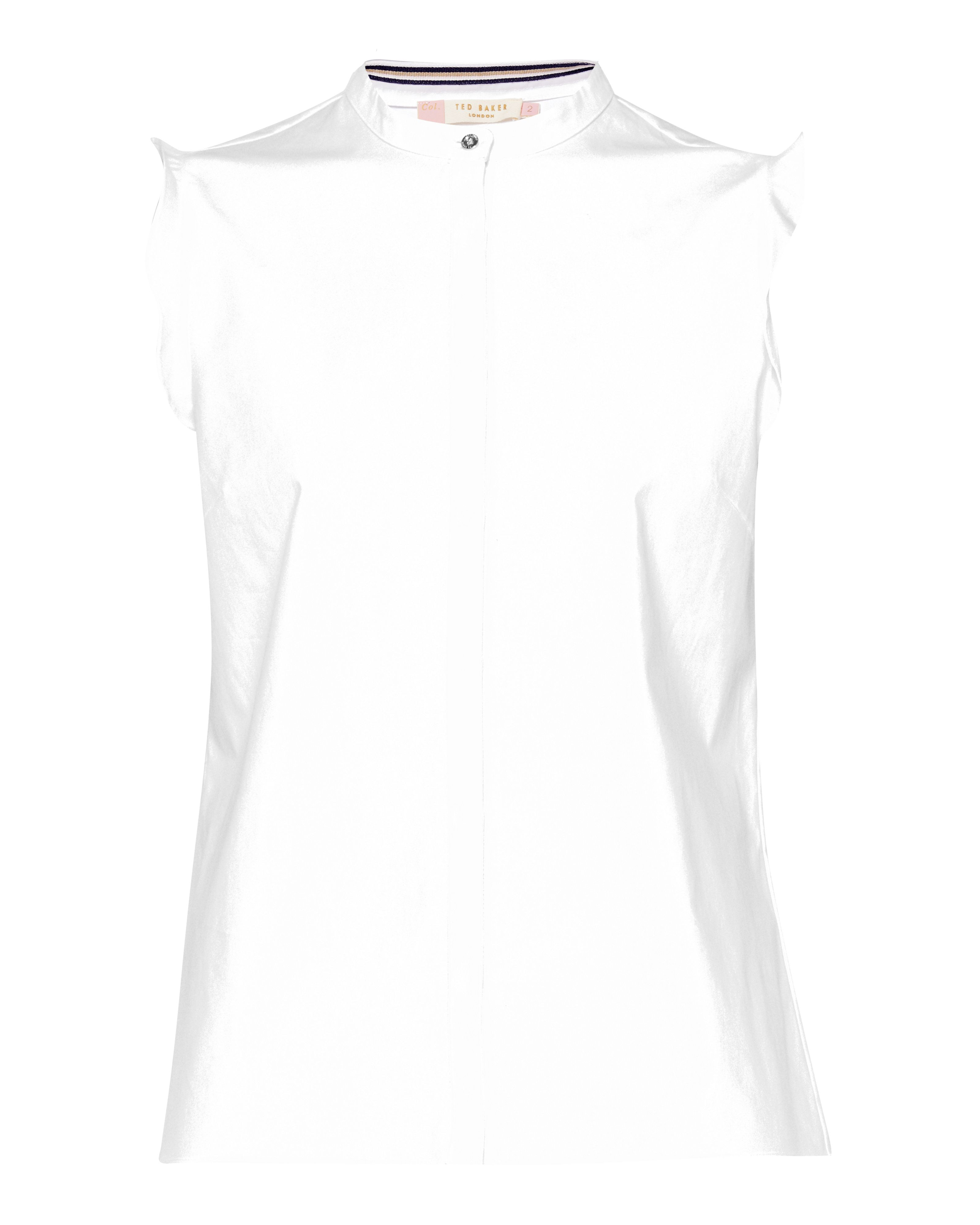 Ted Baker Veryien CBN Fitted Shirt With Frill, White