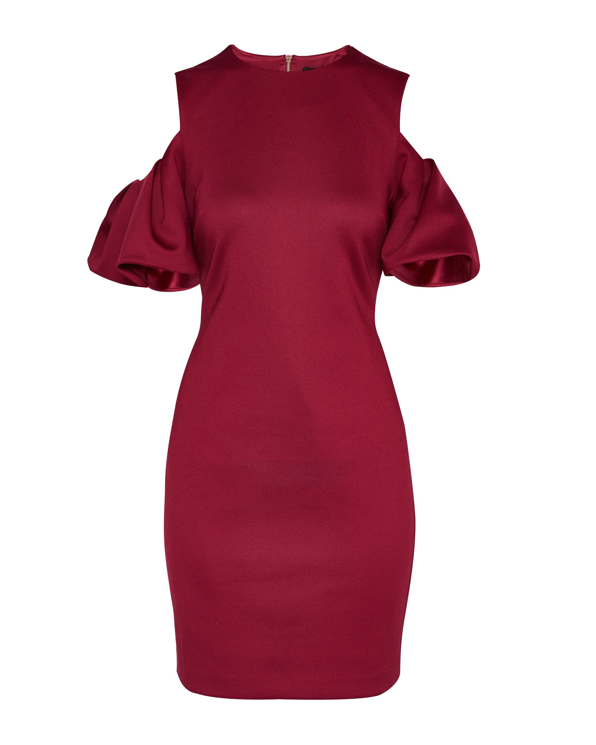 Ted Baker Extreme Cut Out Shoulder Dress, Maroon