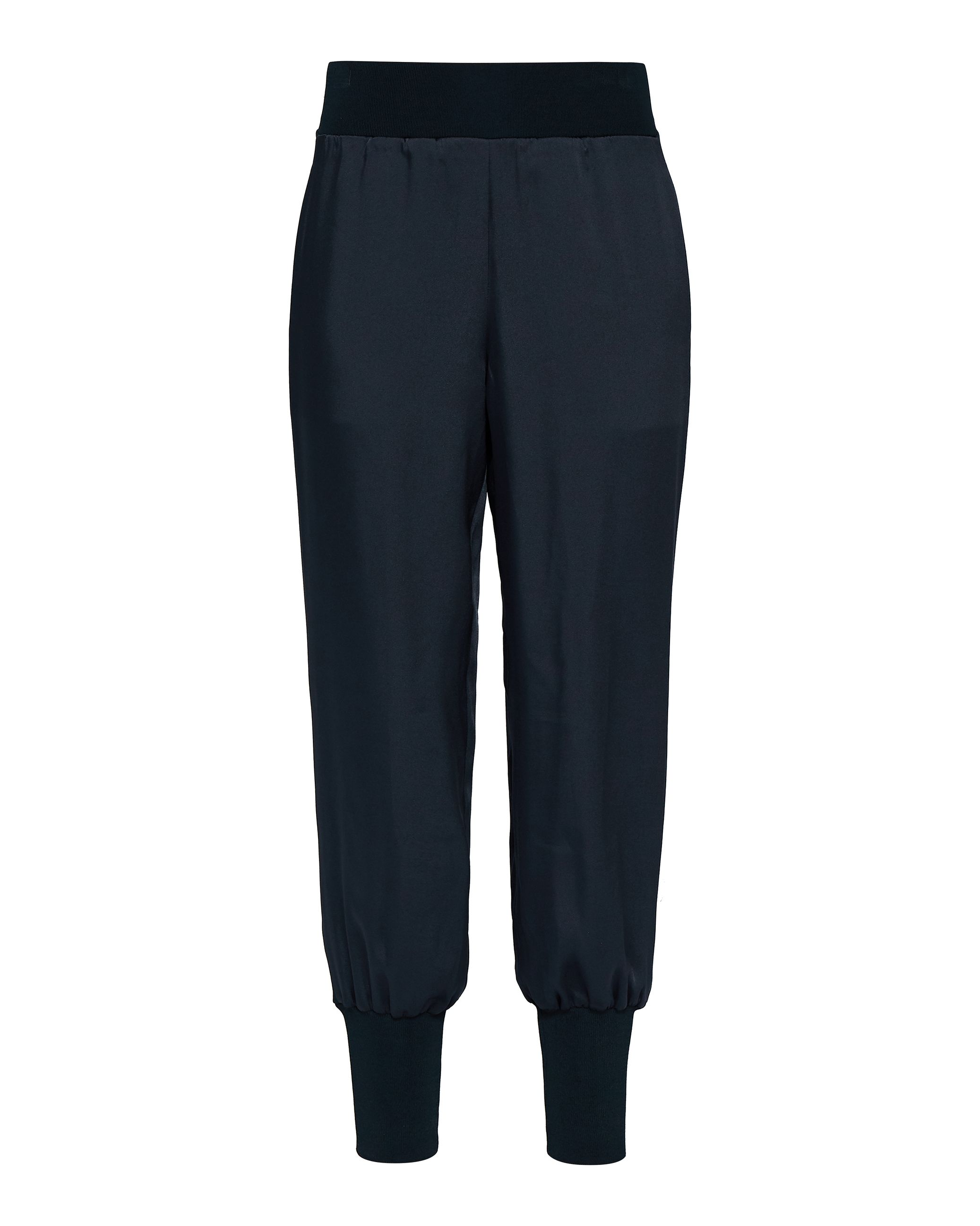 Ted Baker Aibrey Satin Jogger With Knit Trims, Blue