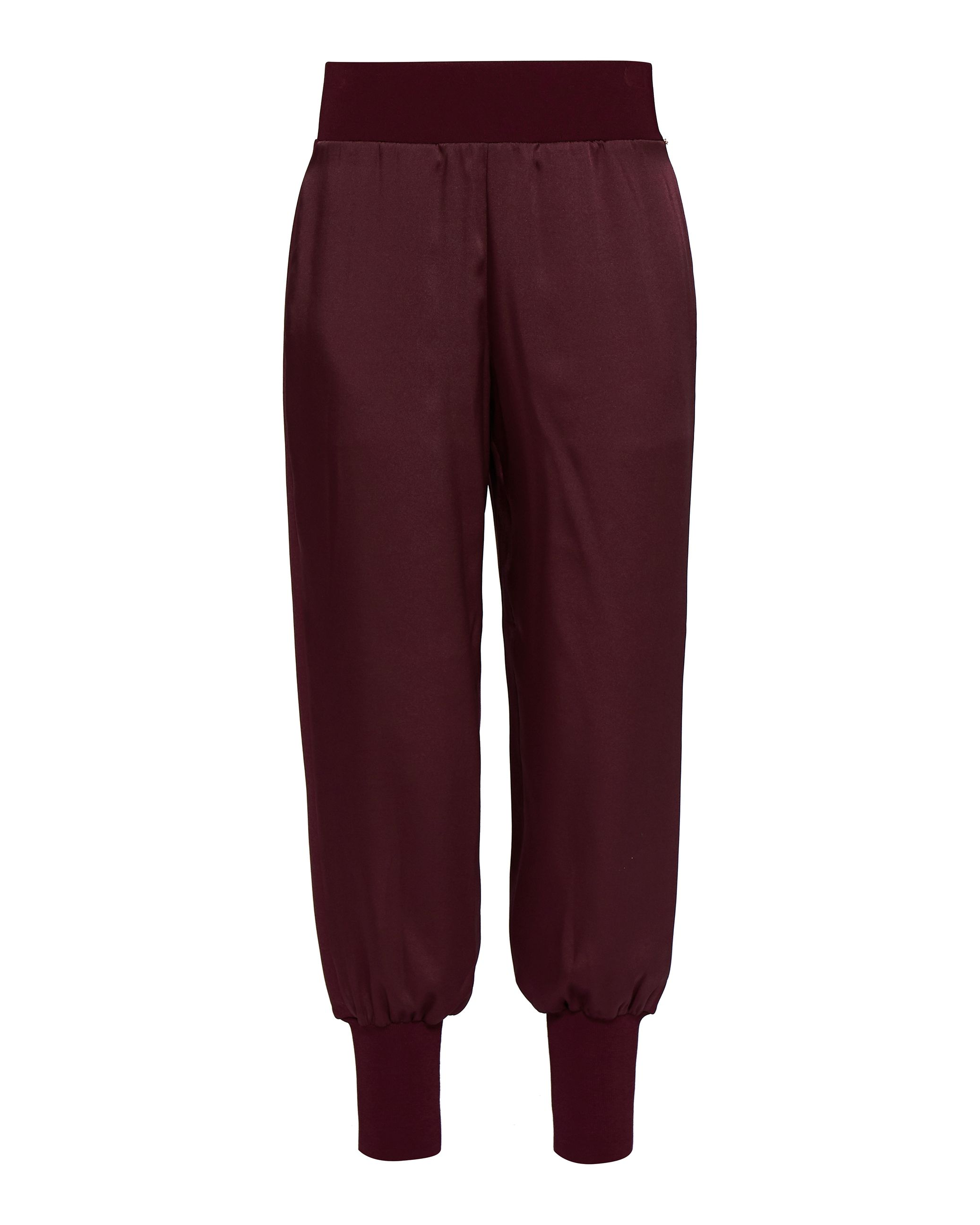 Ted Baker Aibrey Satin Jogger With Knit Trims, Oxblood