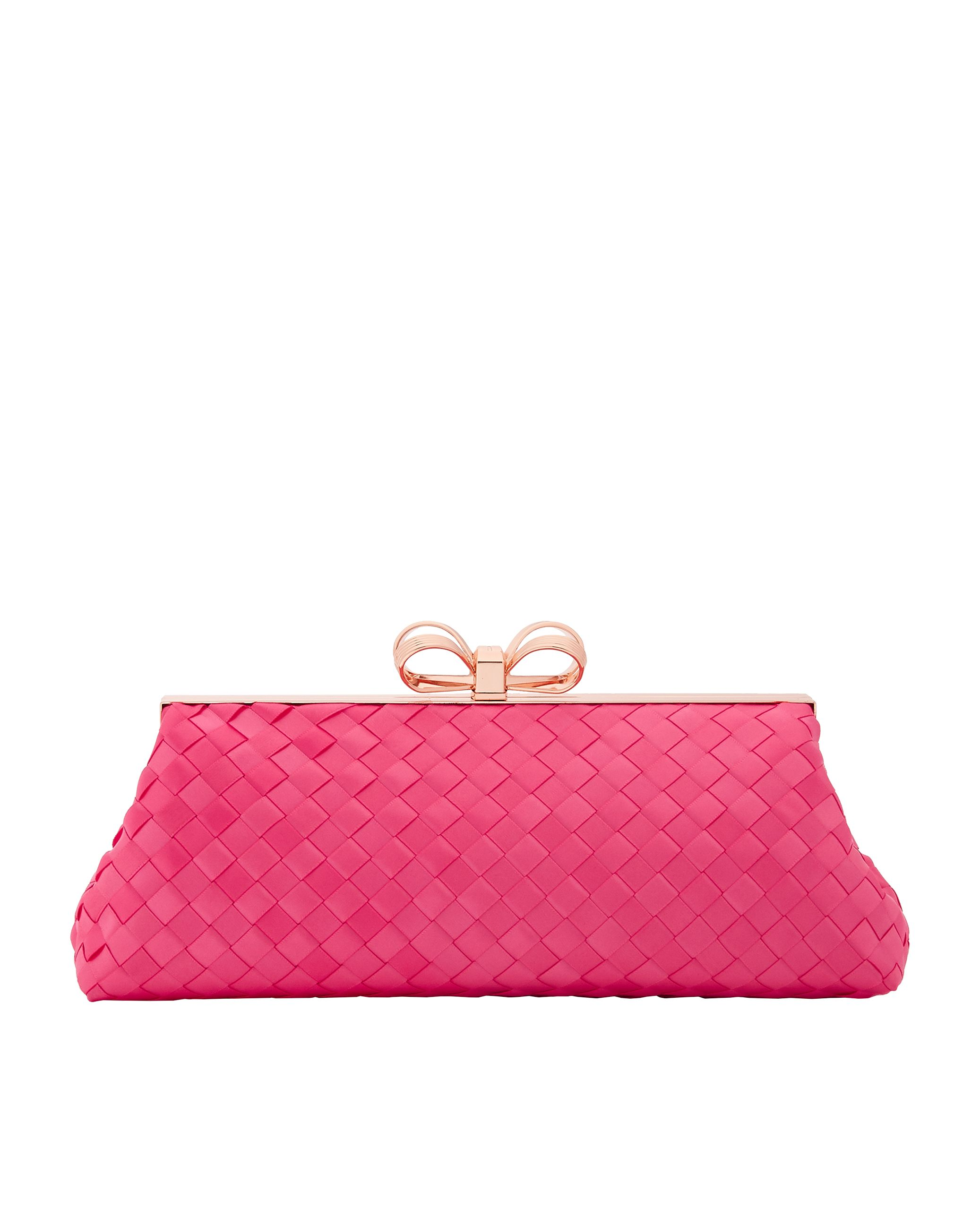 Ted Baker Alaina Woven Clutch Bag, Mid Pink
