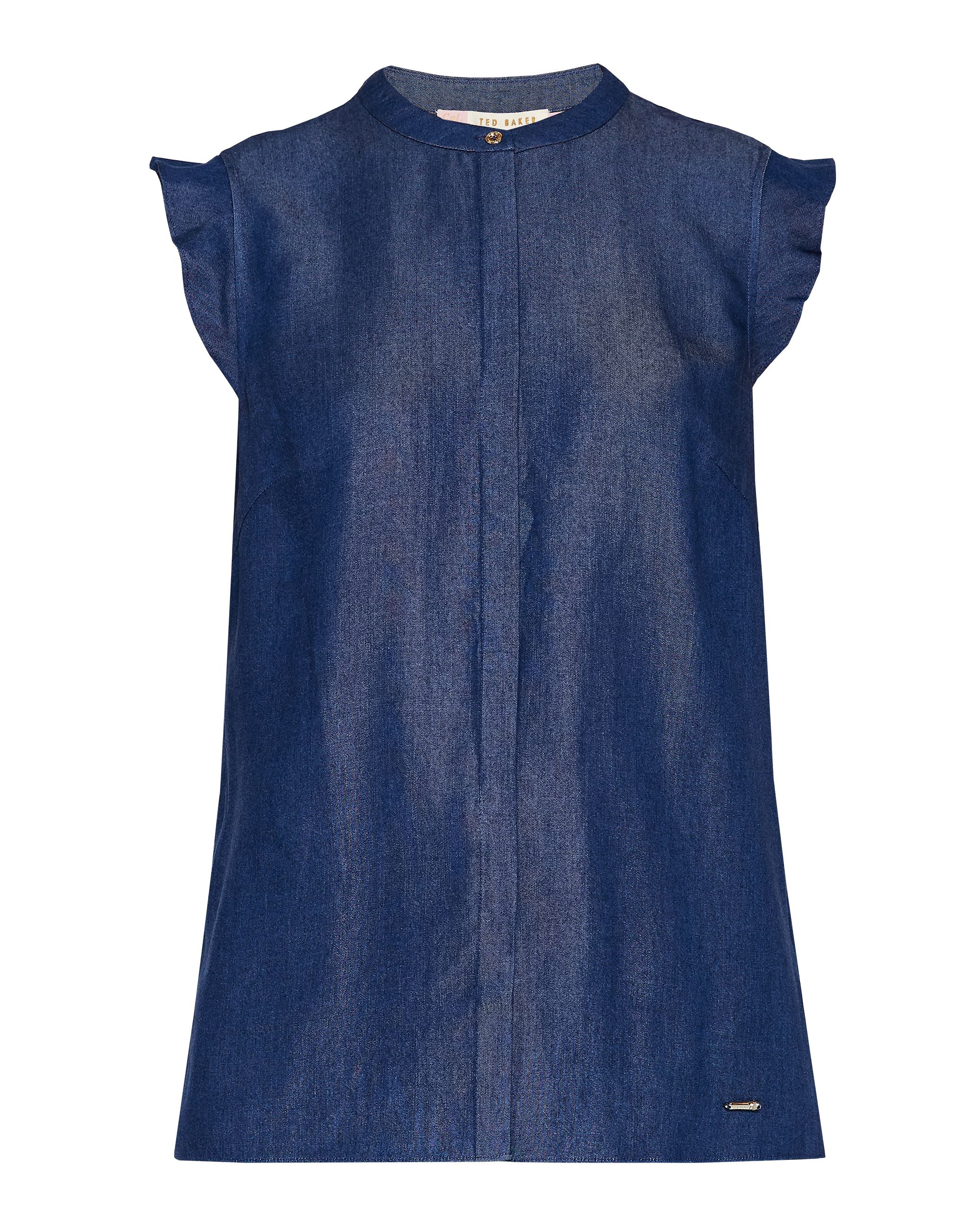 Ted Baker Abiie Frill Sleeve Top, Washed Blue