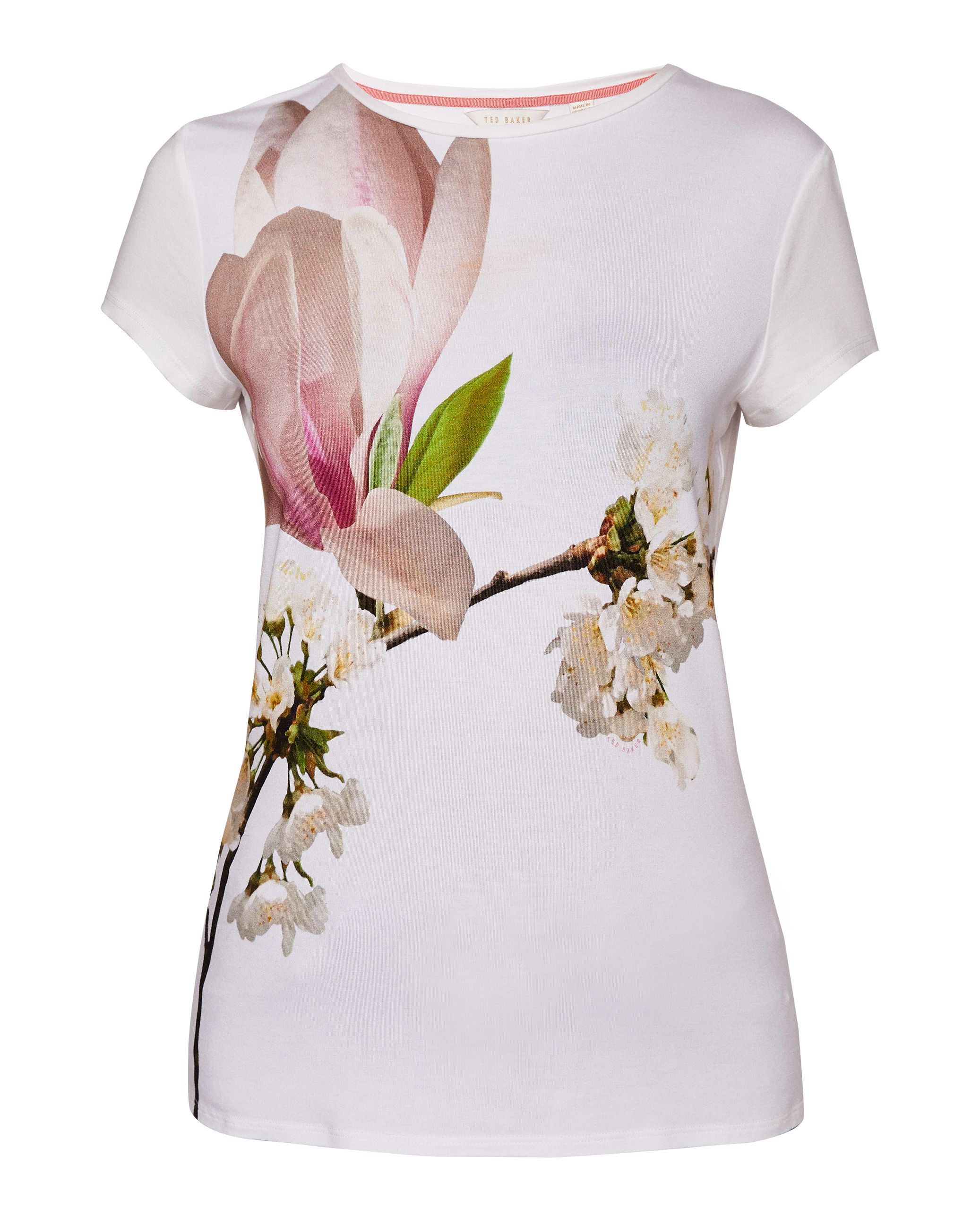 Ted Baker Aeesha Harmony Fitted T-Shirt, White