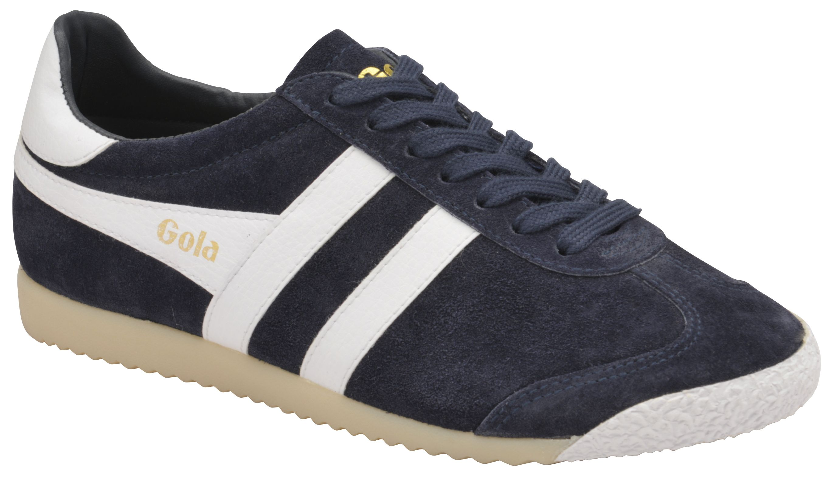 Gola Harrier 50 Suede Lace Up Trainers, Blue