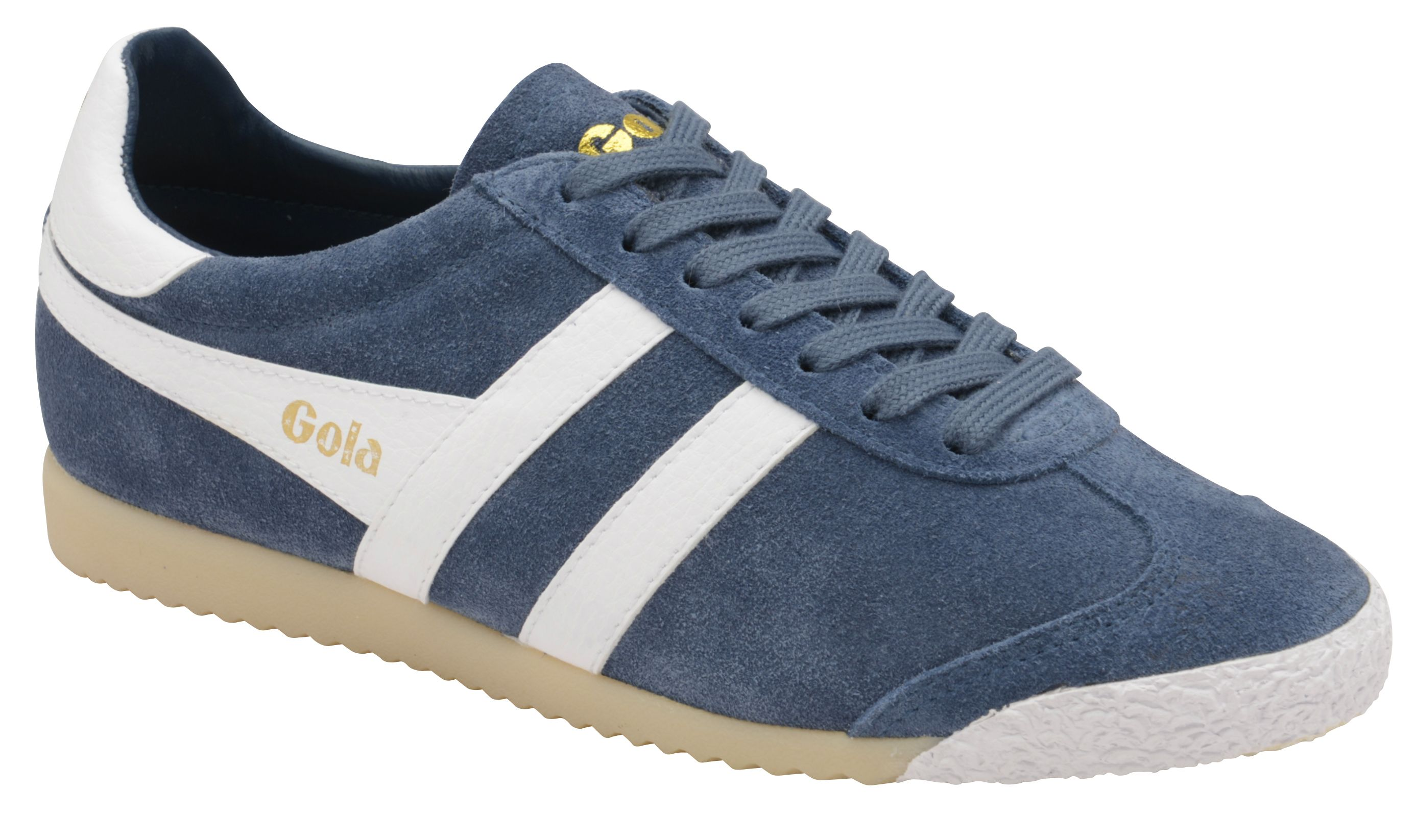 Gola Harrier 50 Suede Lace Up Trainers, Baltic Blue