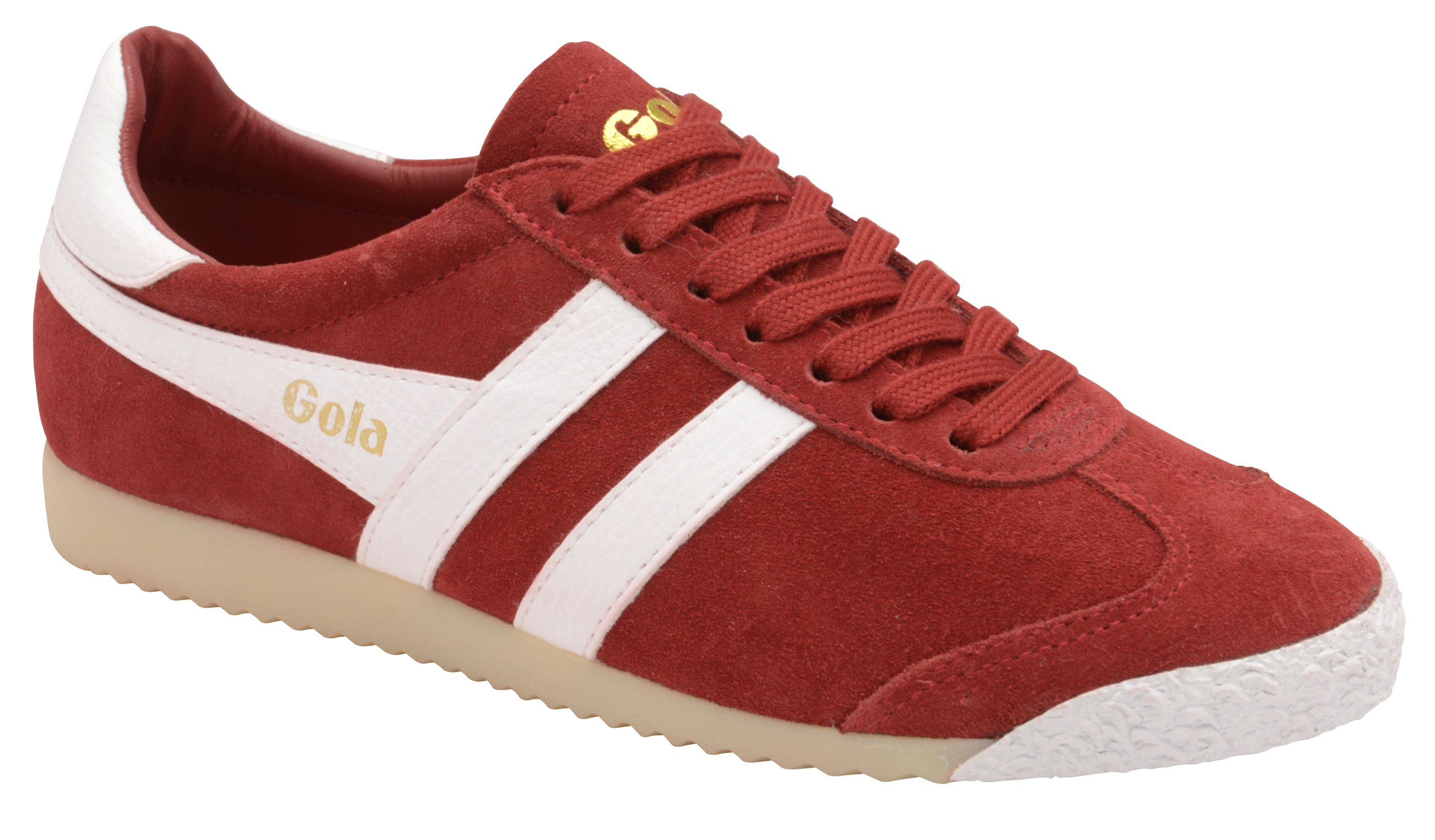 Gola Harrier 50 Suede Lace Up Trainers, Red