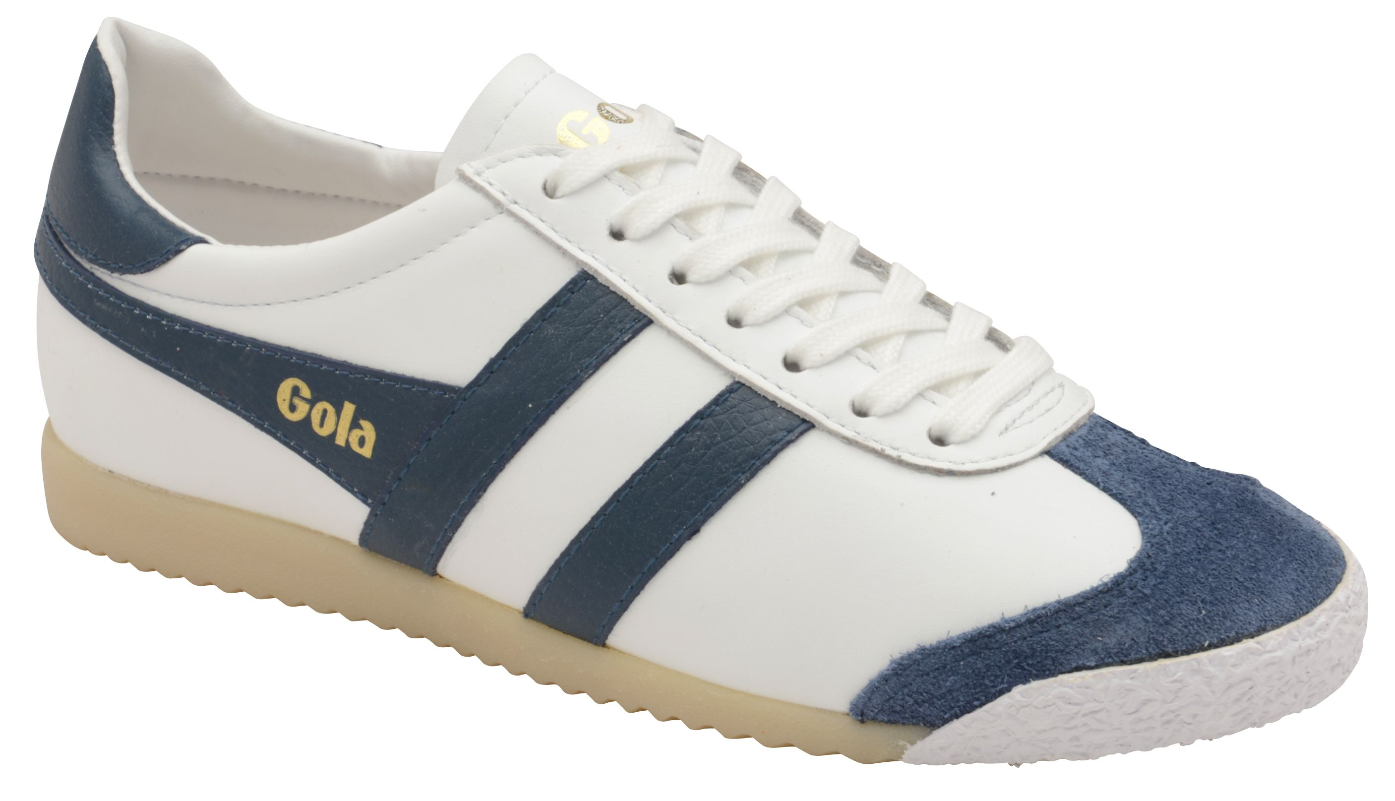 Gola Harrier 50 Leather Lace Up Trainers, White