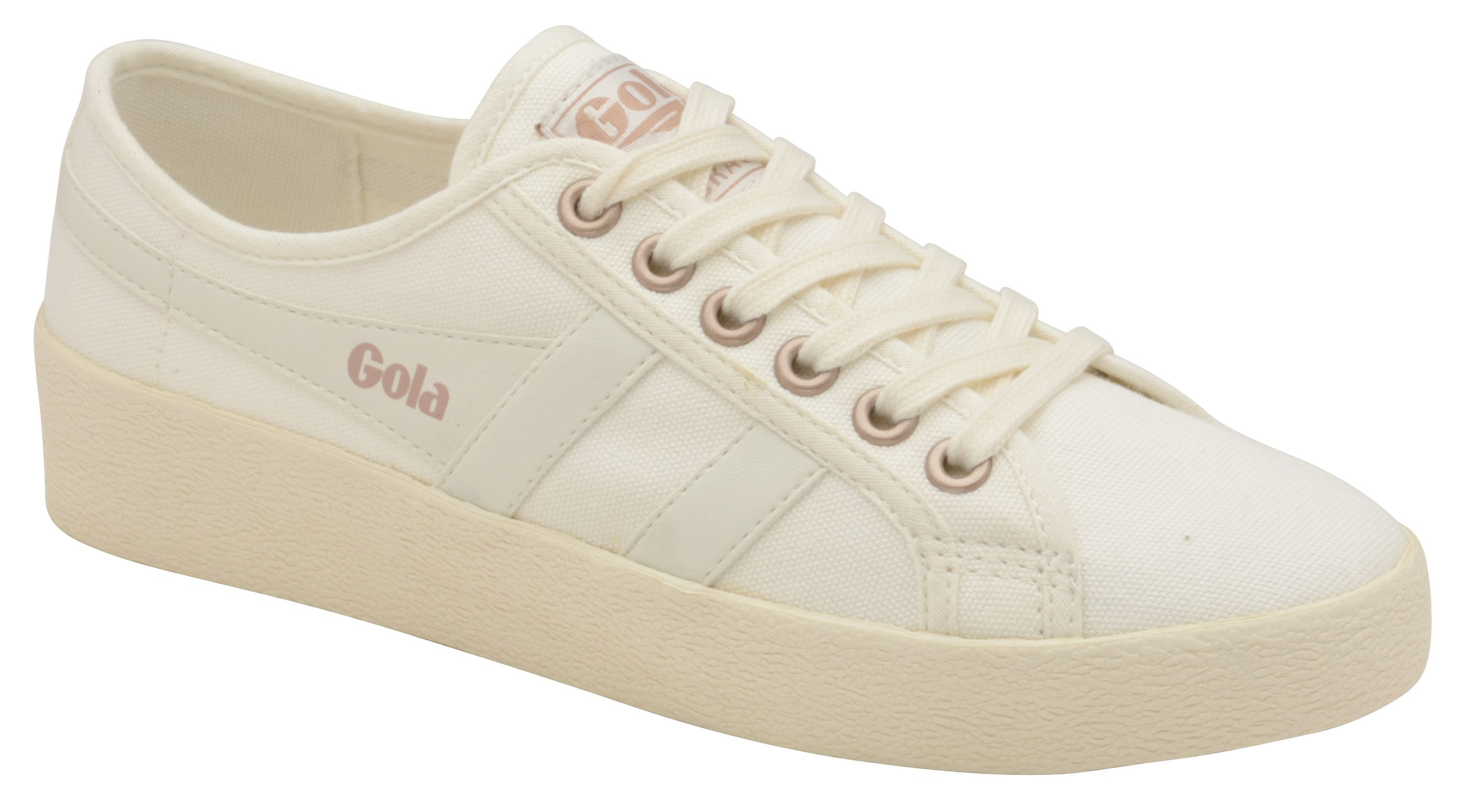 Gola Grace Lace Up Trainers, Off White