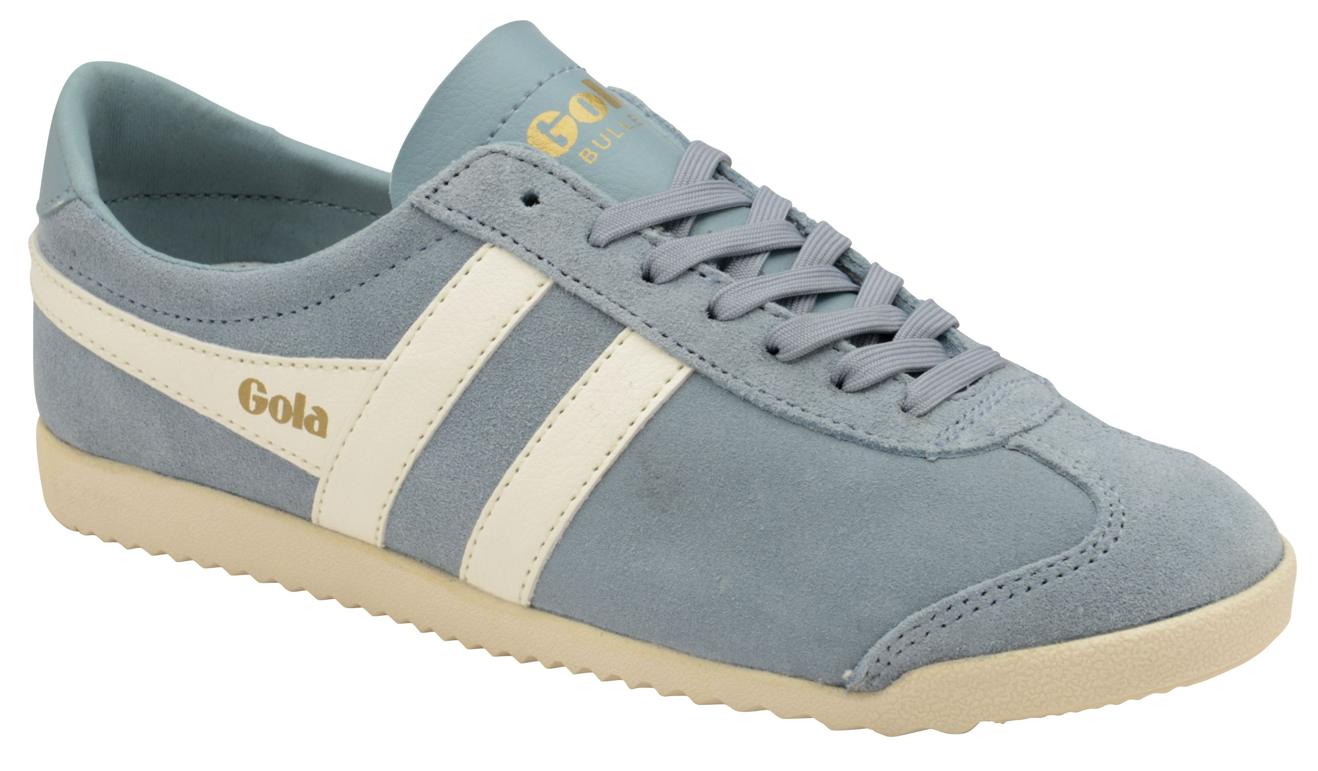 Gola Bullet Suede Lace Up Trainers, Sky Blue