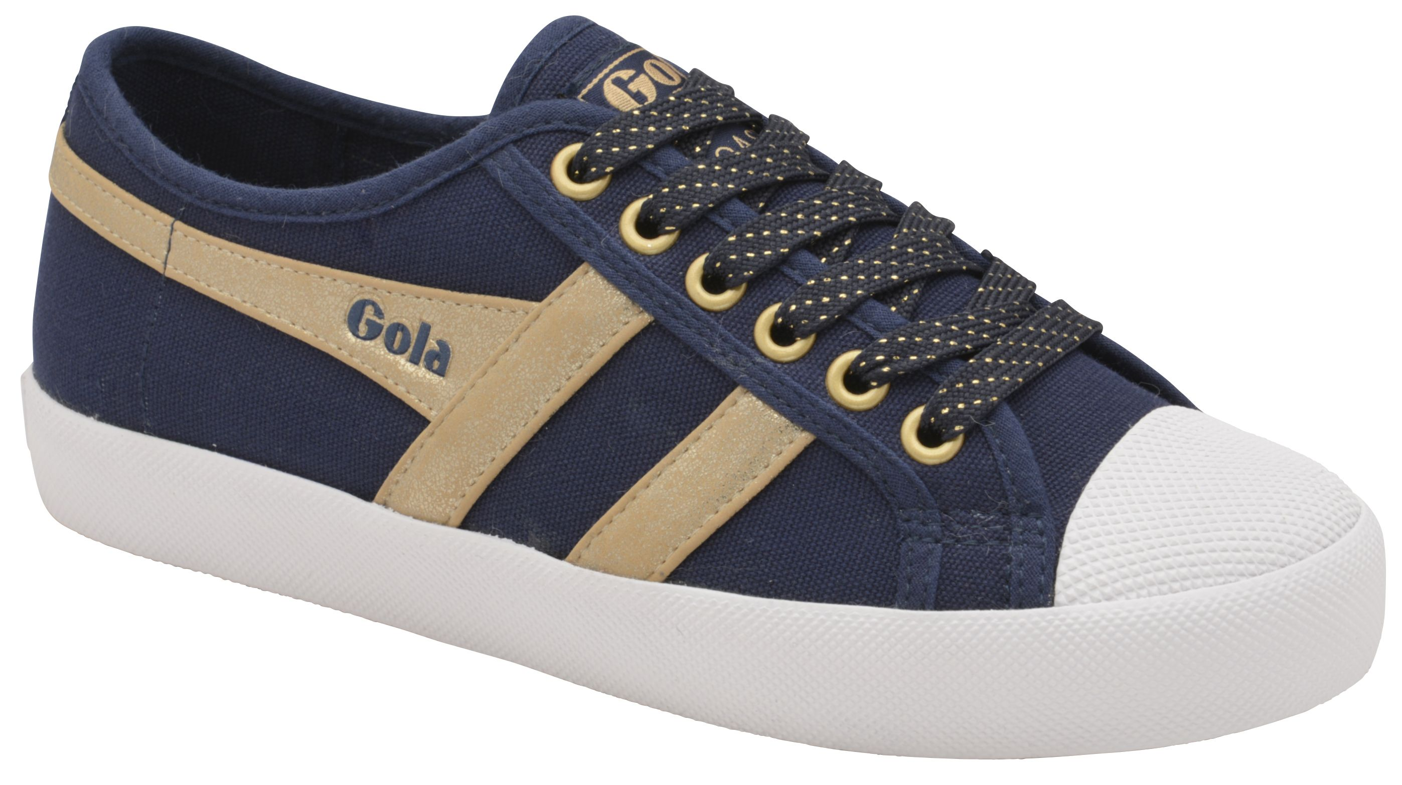 Gola Coaster Mirror Lace Up Trainers, Blue