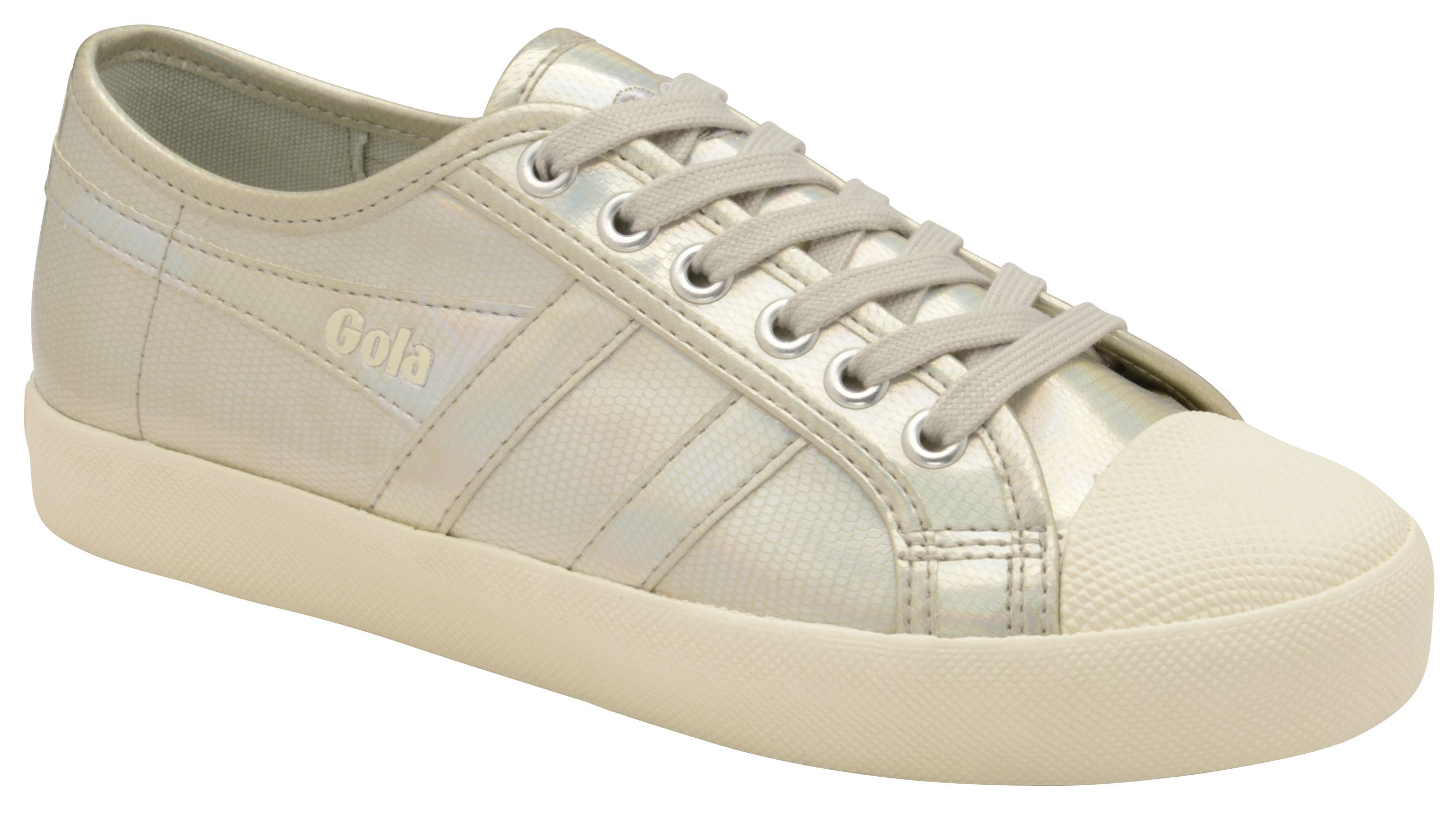 Gola Coaster Lizard Lace Up Trainers, Silver Silverlic