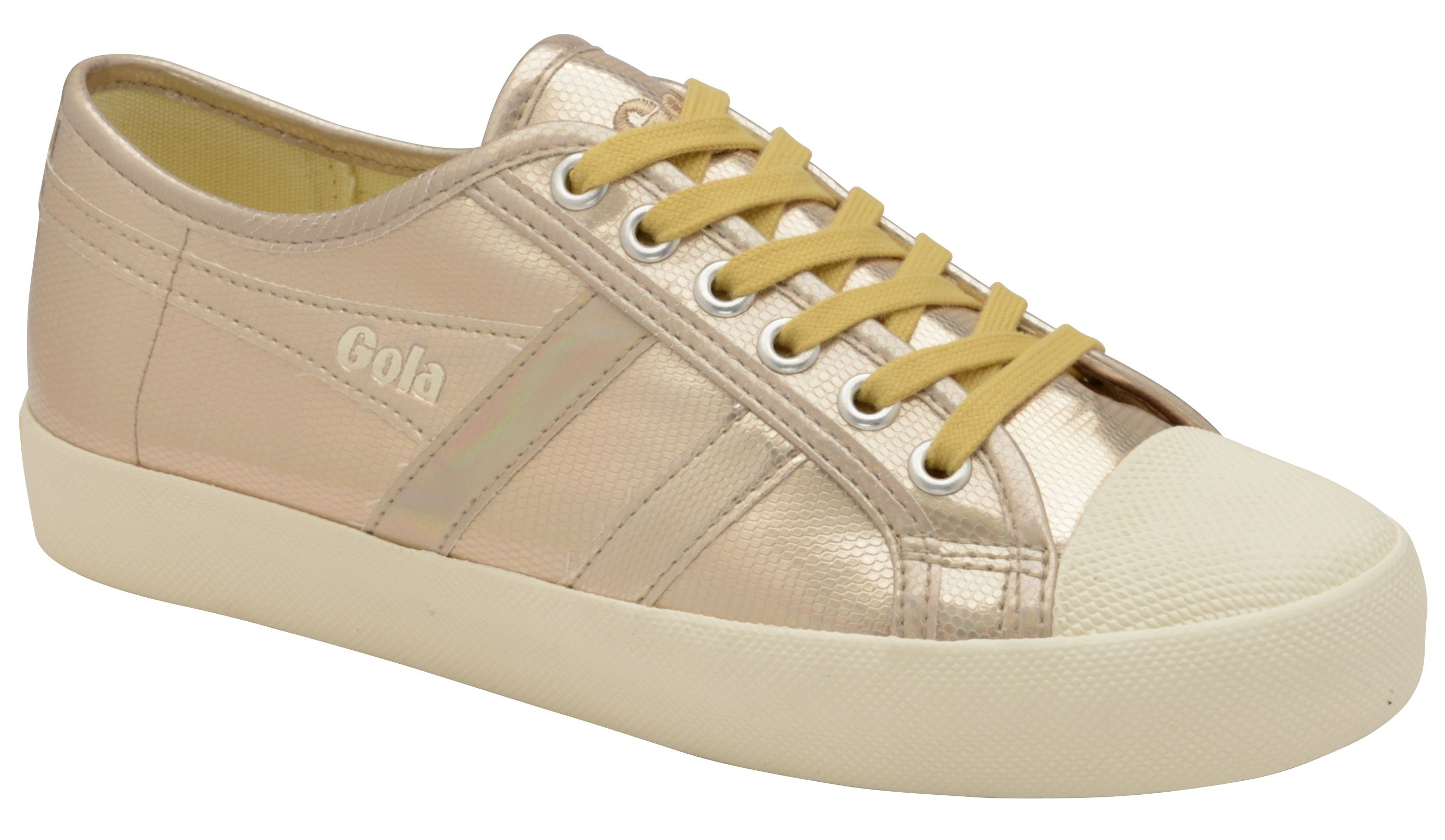 Gola Coaster Lizard Lace Up Trainers, Gold Silverlic