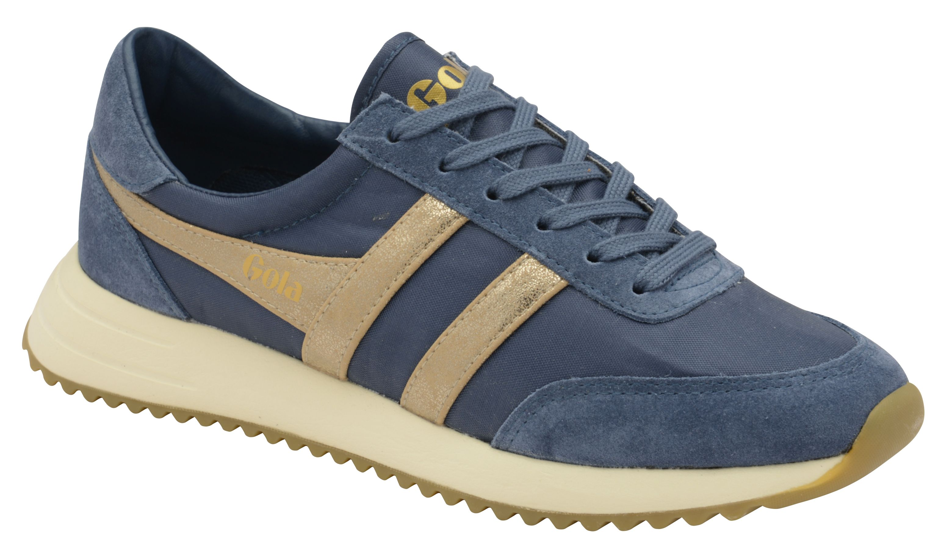 Gola Montreal Mirror Lace Up Trainers, Baltic Blue