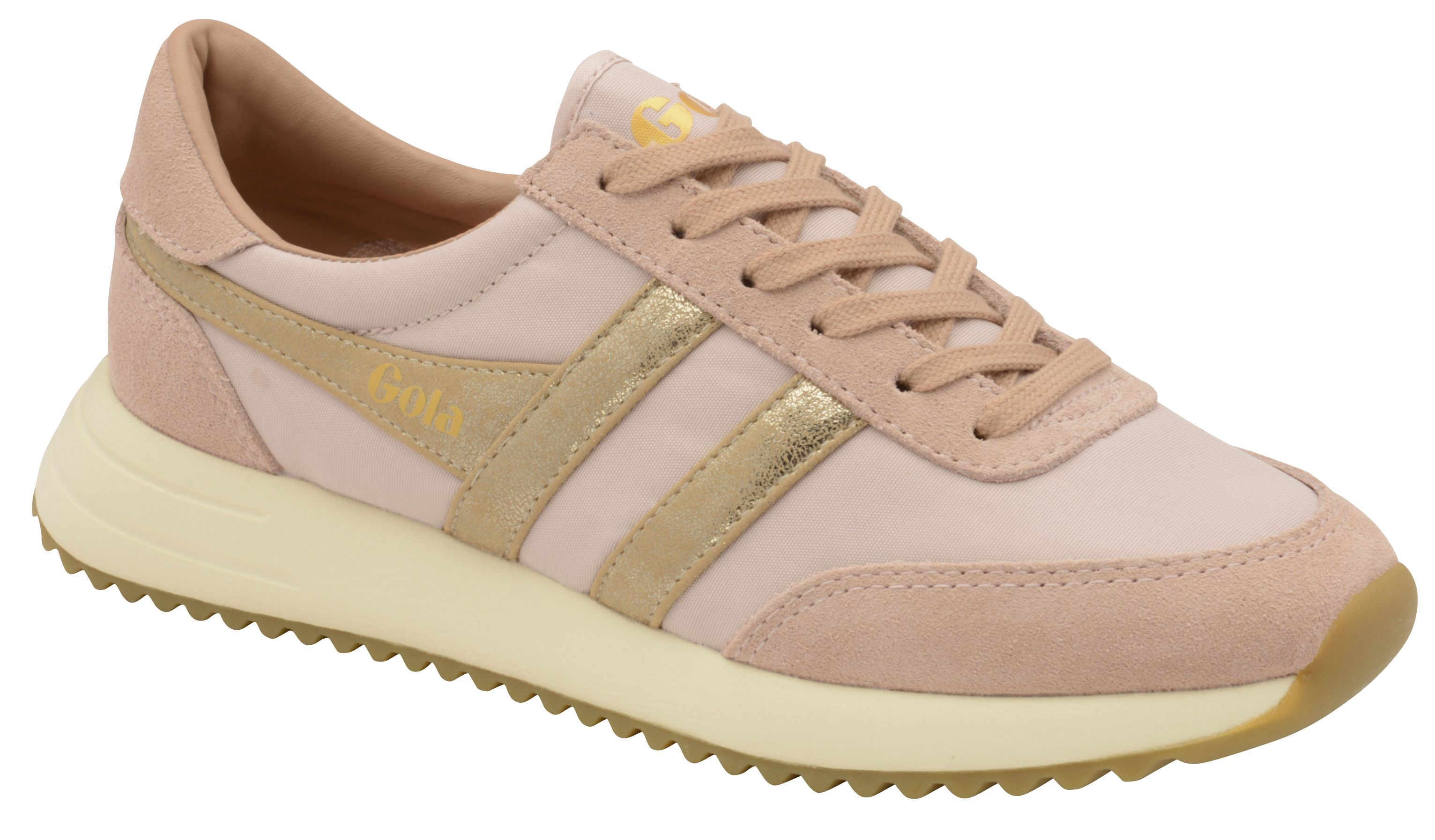Gola Montreal Mirror Lace Up Trainers, Pink
