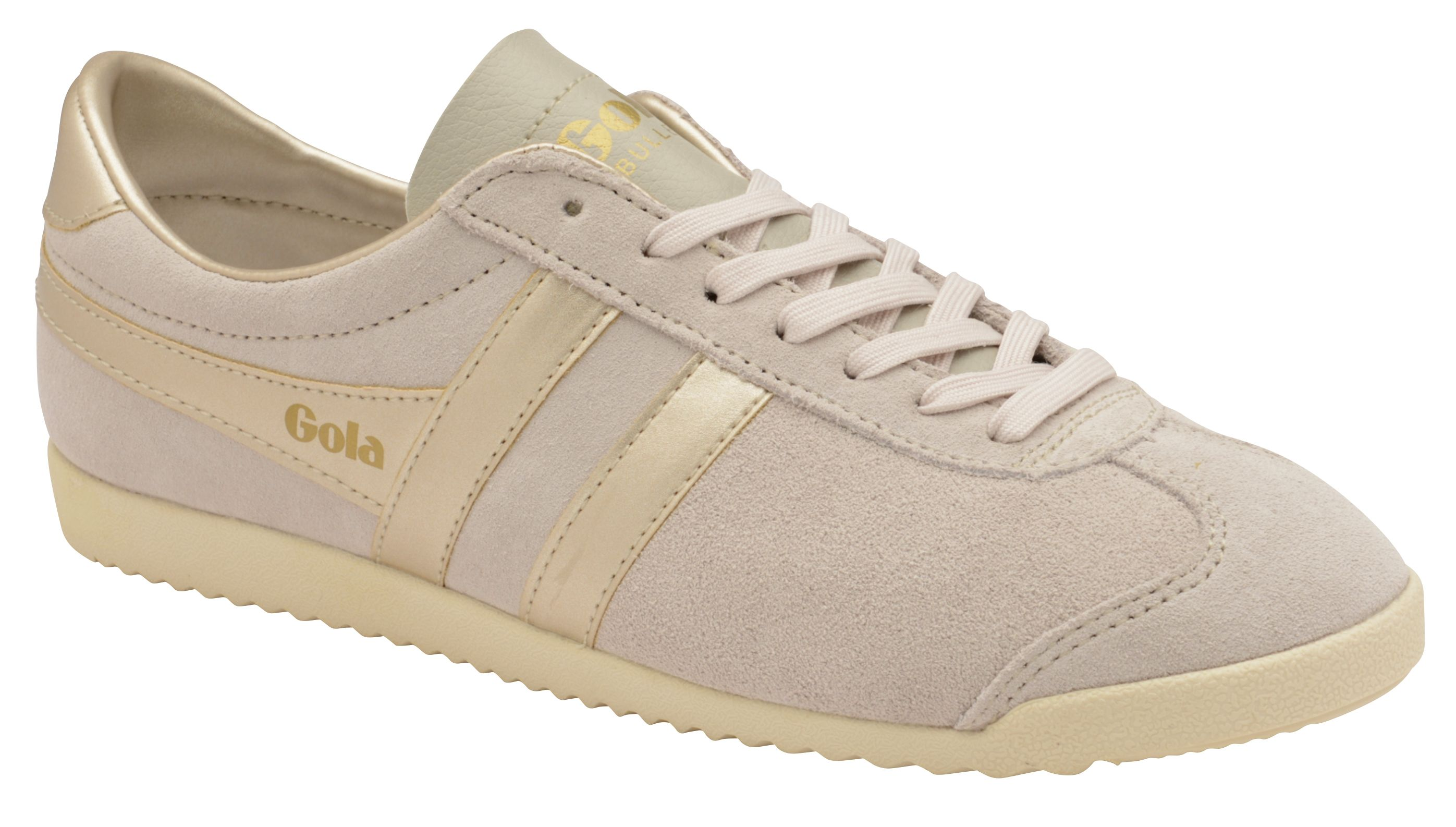 Gola Bullet Pearl Lace Up Trainers, Rose Gold