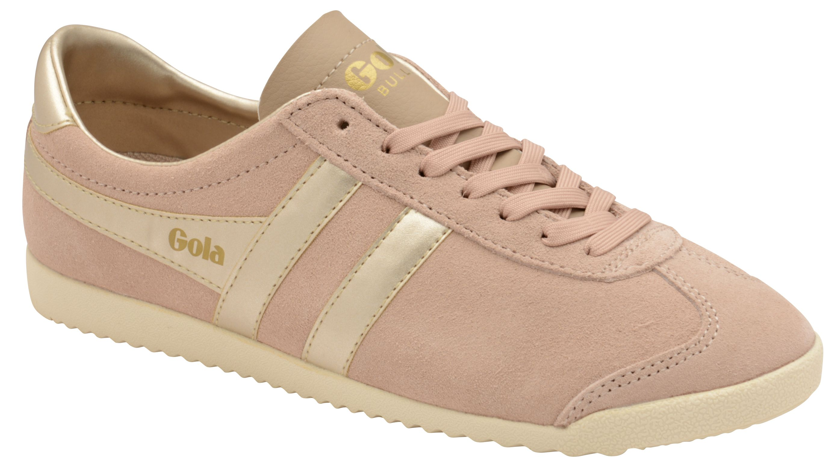 Gola Bullet Pearl Lace Up Trainers, Pink