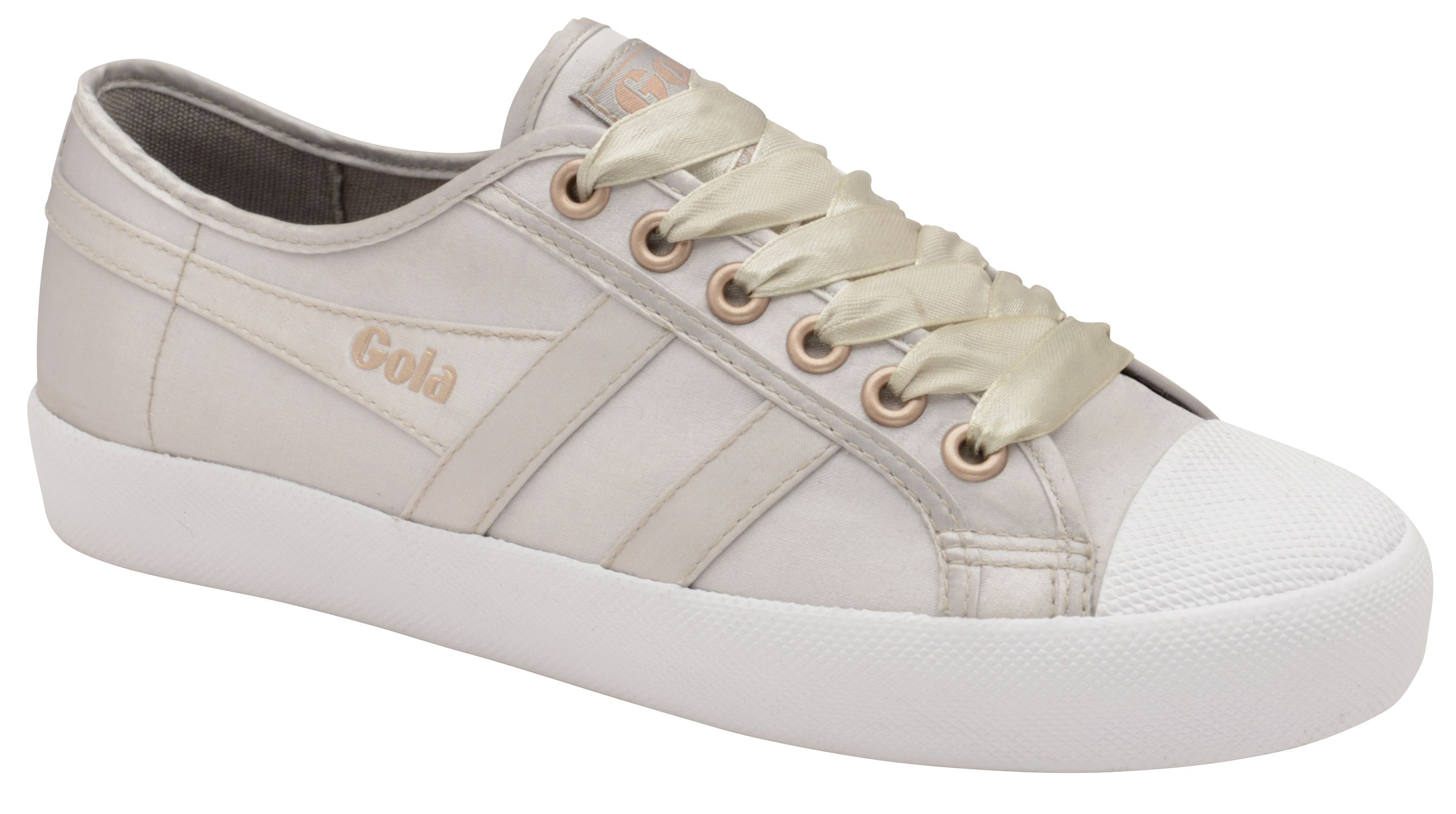 Gola Coaster Satin Lace Up Trainers, Grey
