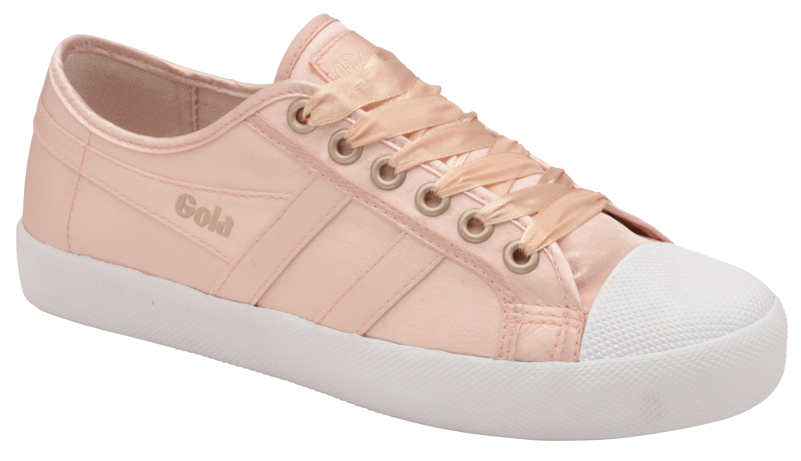 Gola Coaster Satin Lace Up Trainers, Pink