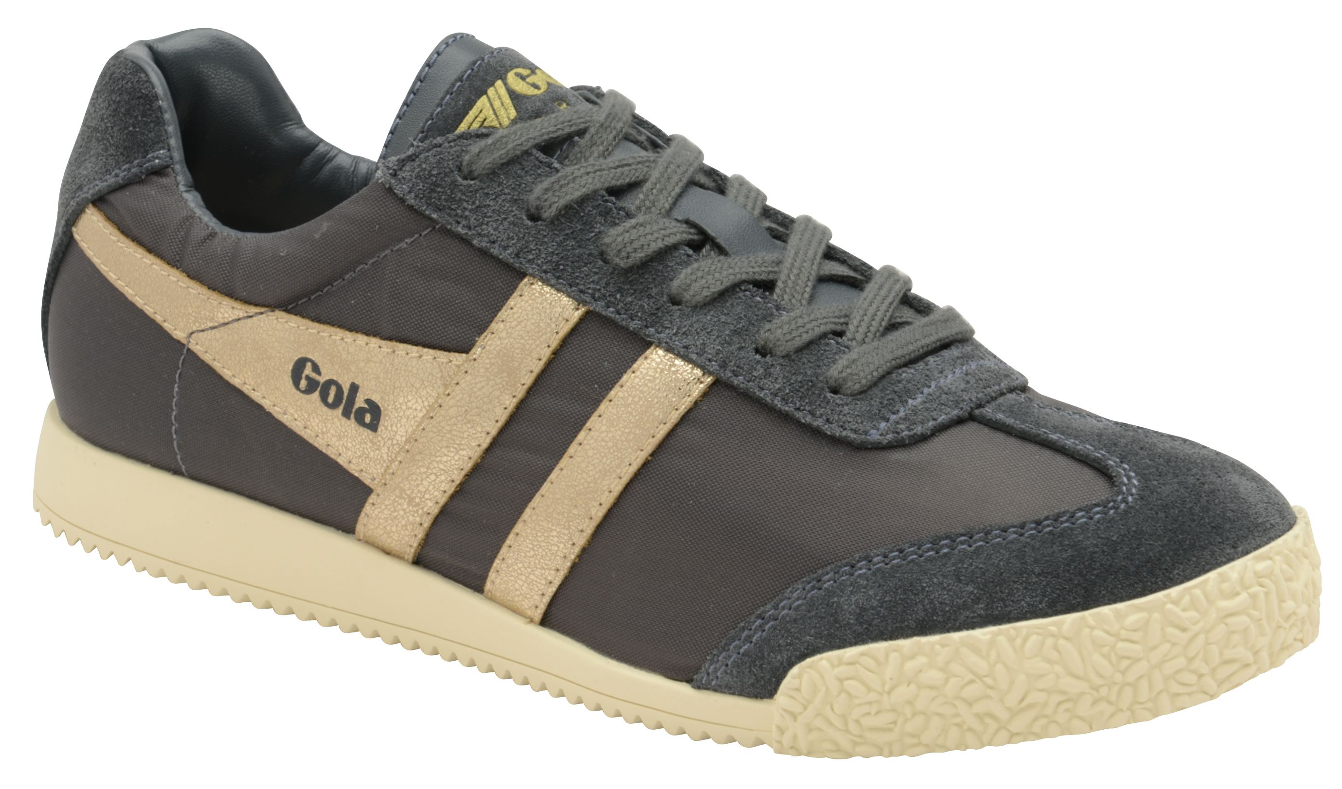 Gola Harrier Nylon Lace Up Trainers, Graphite