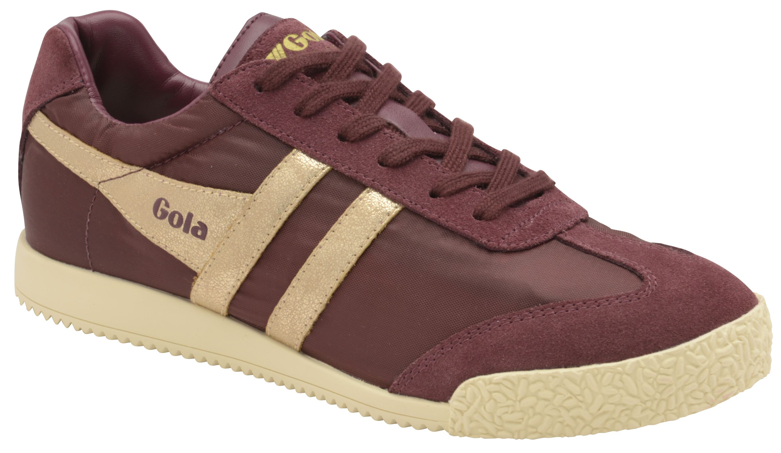 Gola Harrier Nylon Lace Up Trainers, Wine