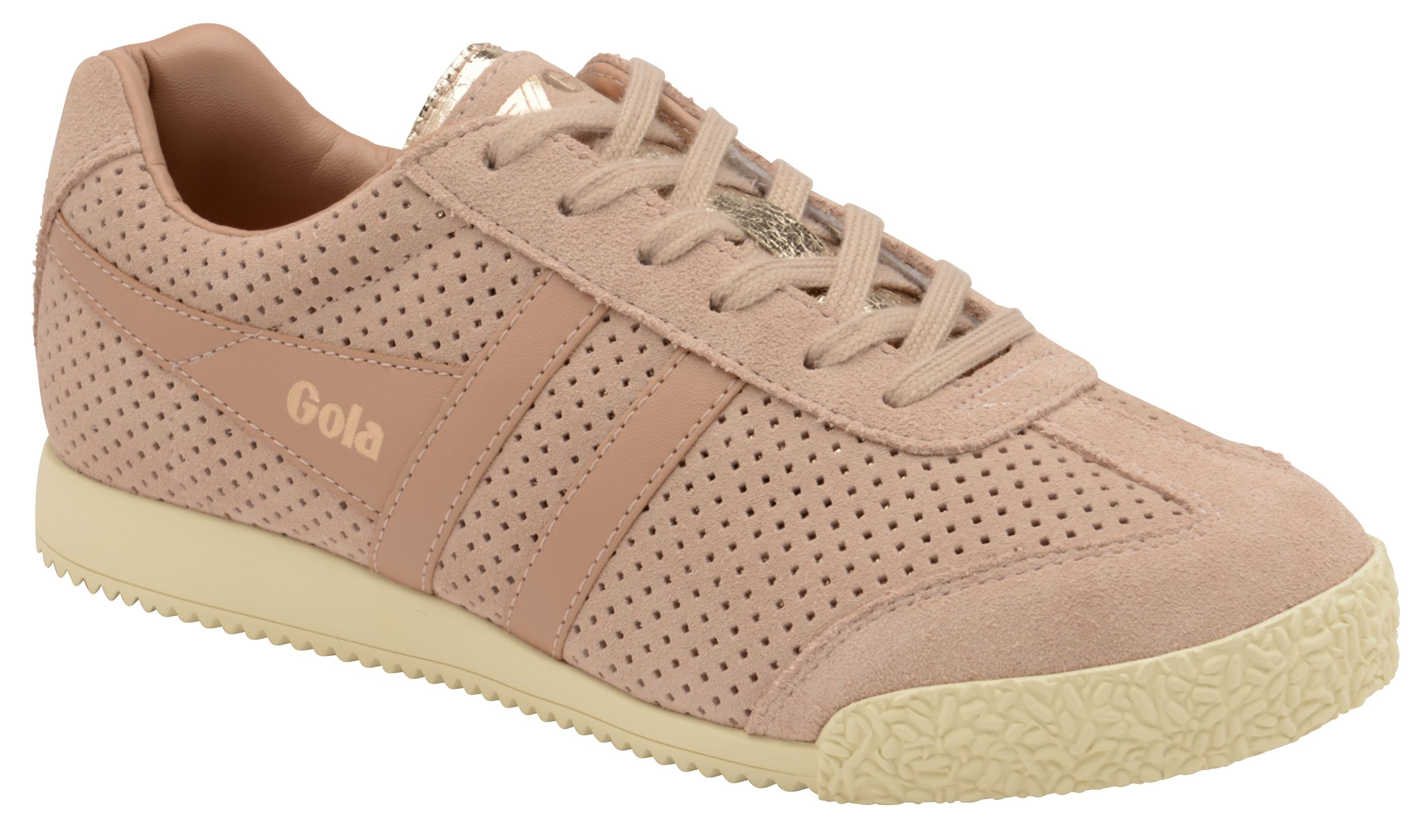 Gola Harrier Glimmer Suede Trainers, Pink
