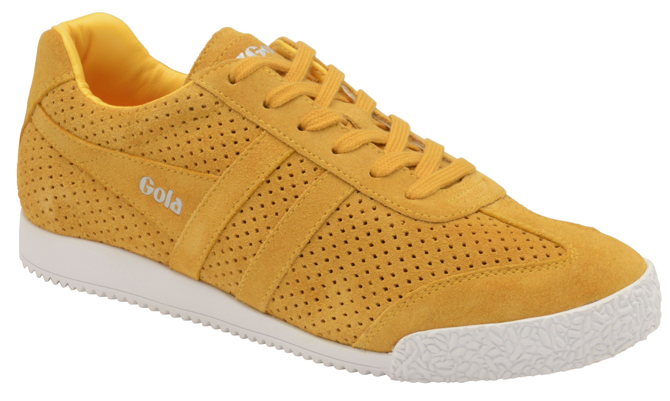 Gola Harrier Squared Lace Up Trainers, Yellow