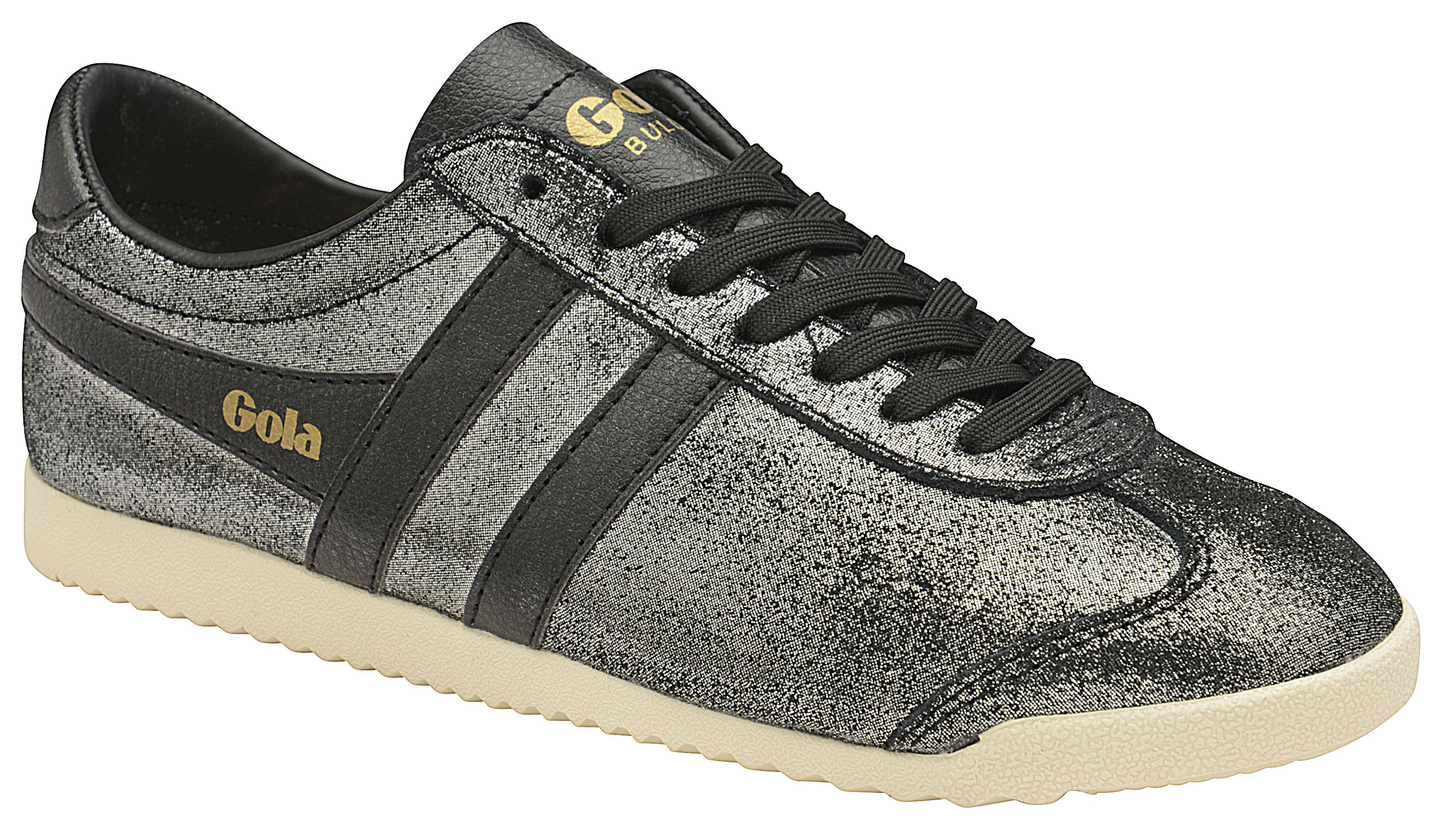 Gola Bullet Glitter Lace Up Trainers, Black