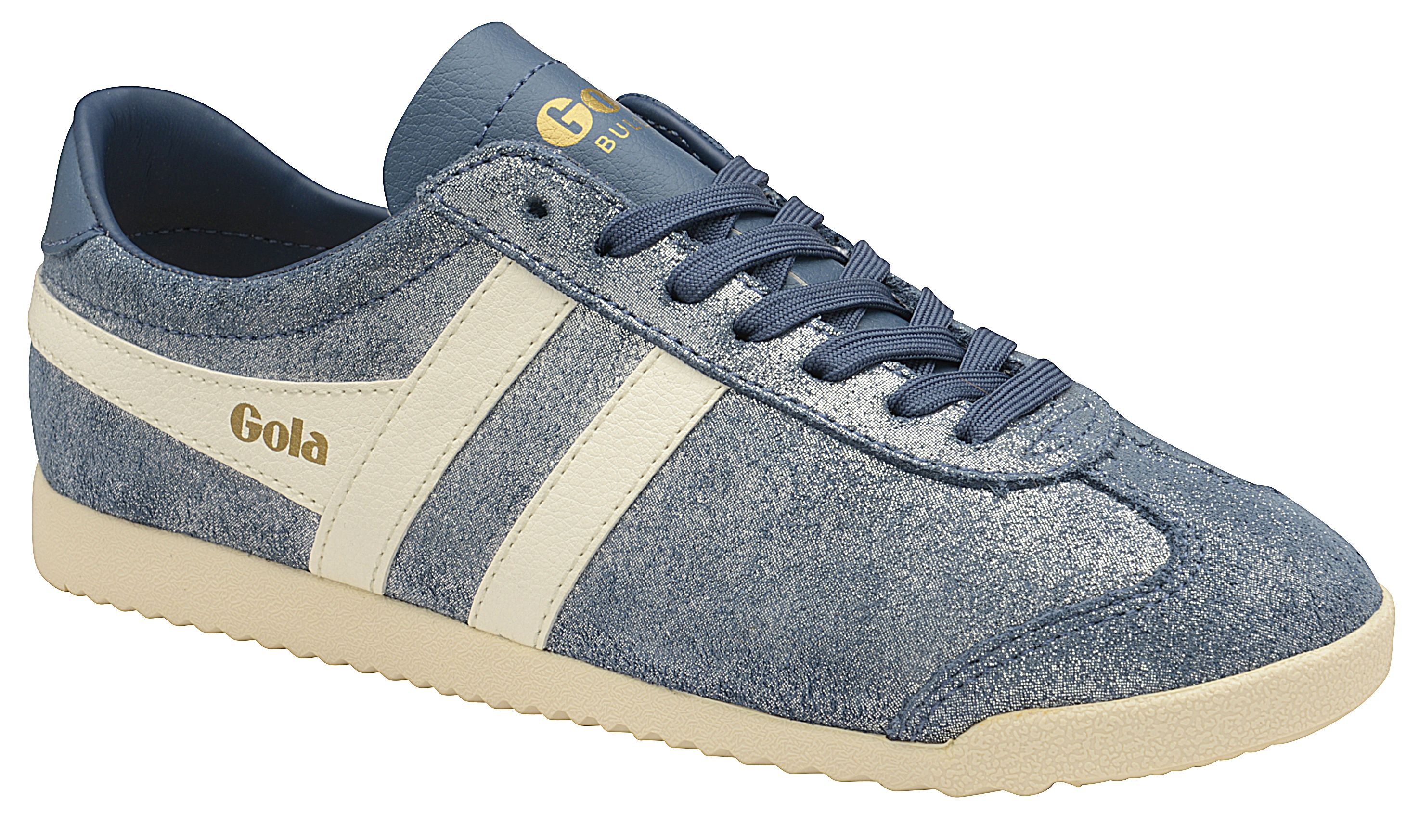 Gola Bullet Glitter Lace Up Trainers, Baltic Blue