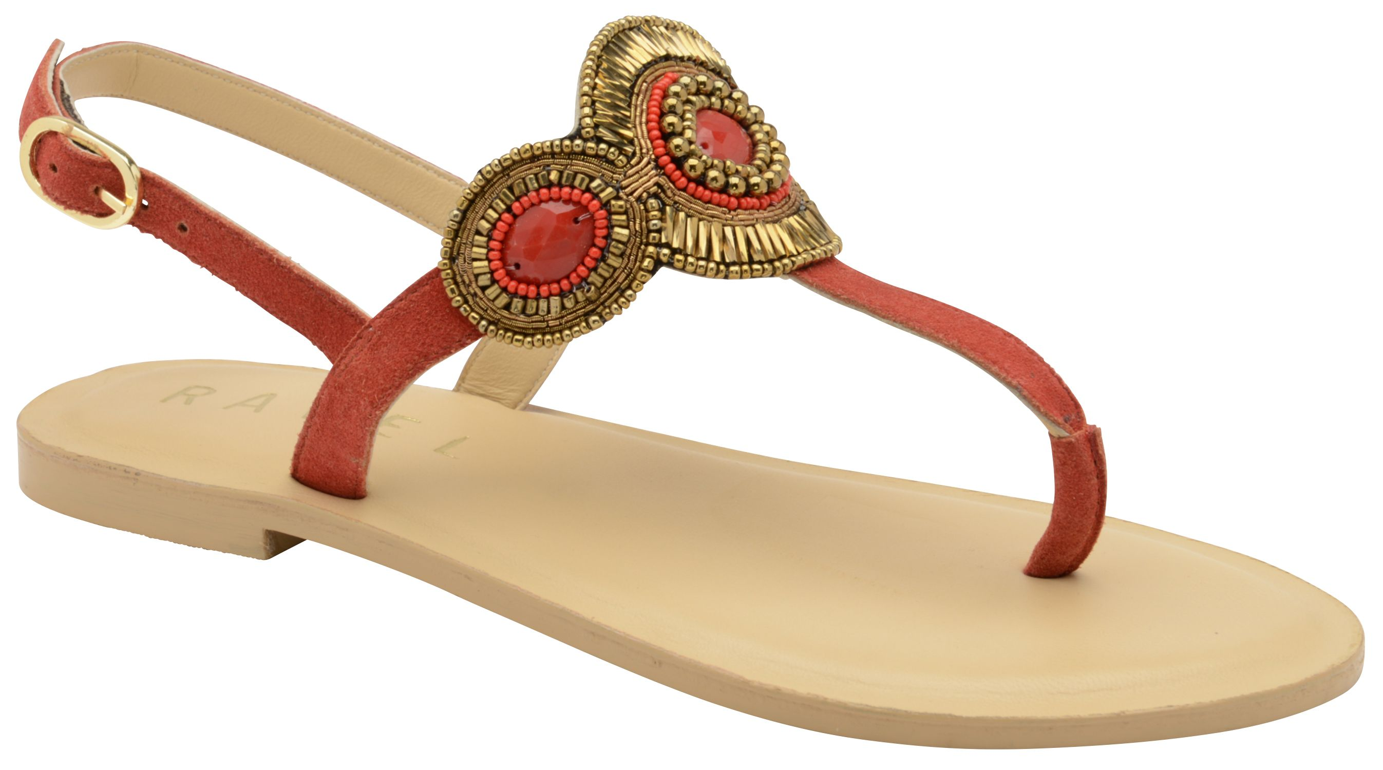 Ravel Palo Flat Sandals, Red